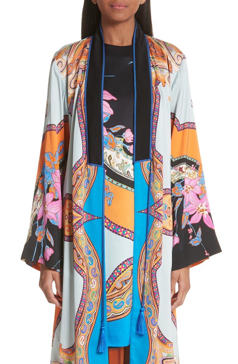 Lily Print Kimono Jacket