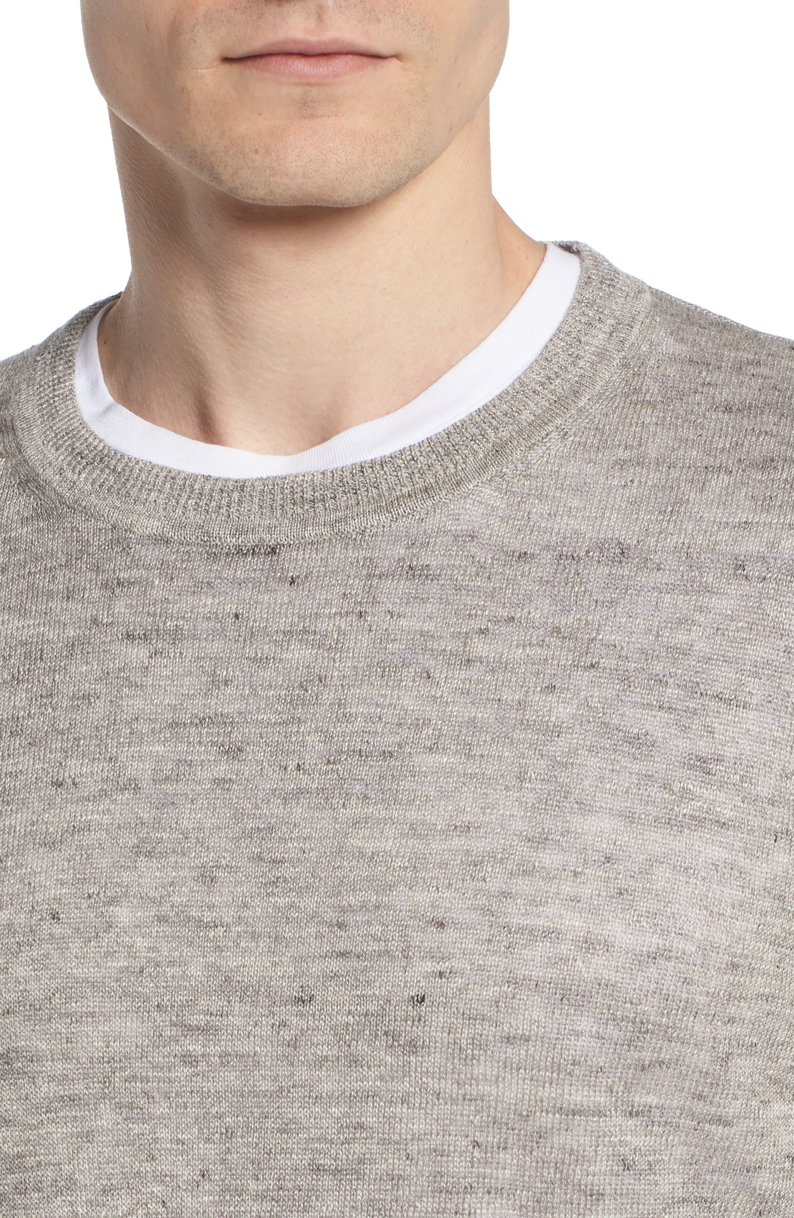 Heyward Long Sleeve T-Shirt,                             Alternate thumbnail 4, color,                             Heather Grey