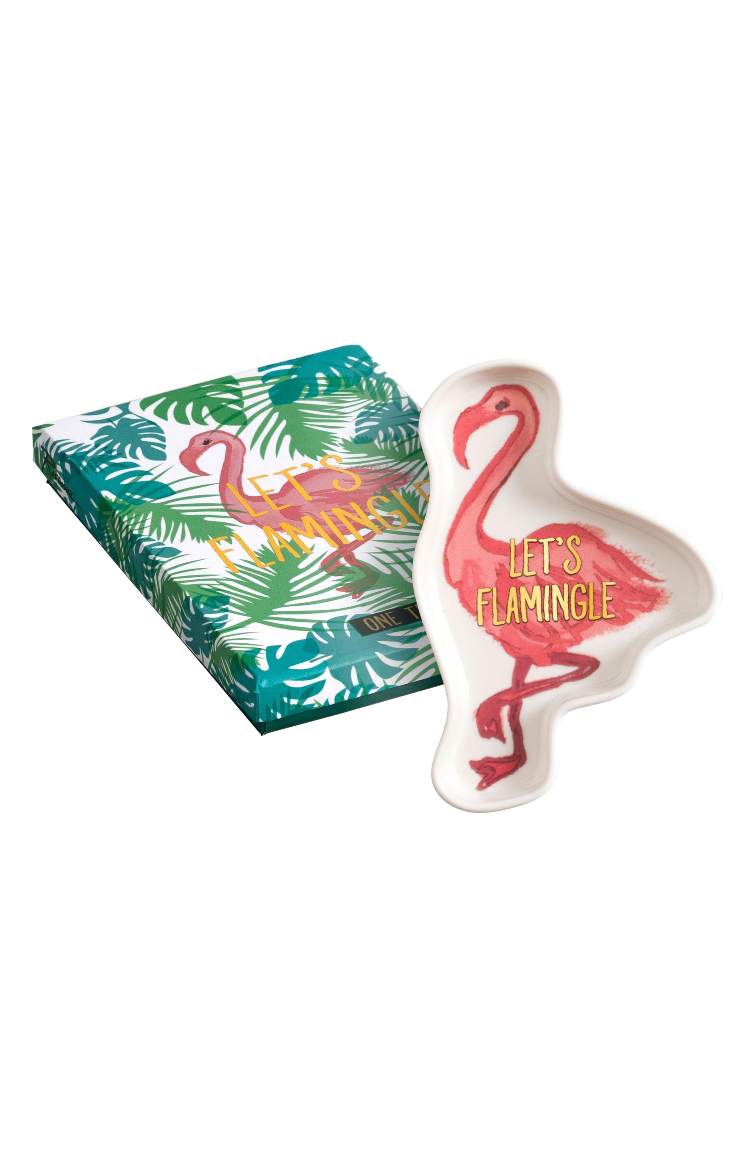 Main Image - Rosanna Be Wild Flamingo Trinket Tray