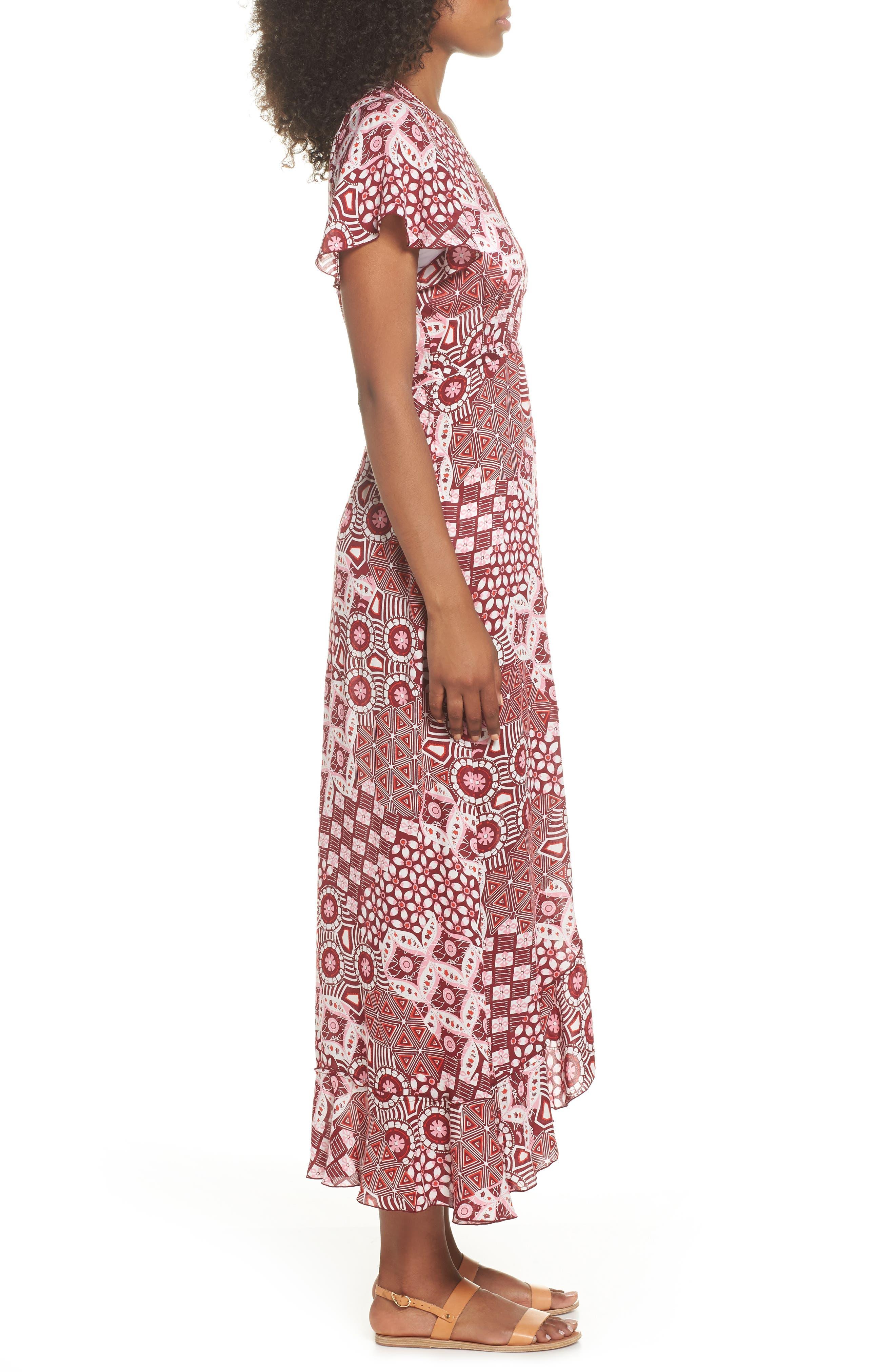 Poupette St. Barth Joe Cover-Up Maxi Dress,                             Alternate thumbnail 3, color,                             Pink Mali
