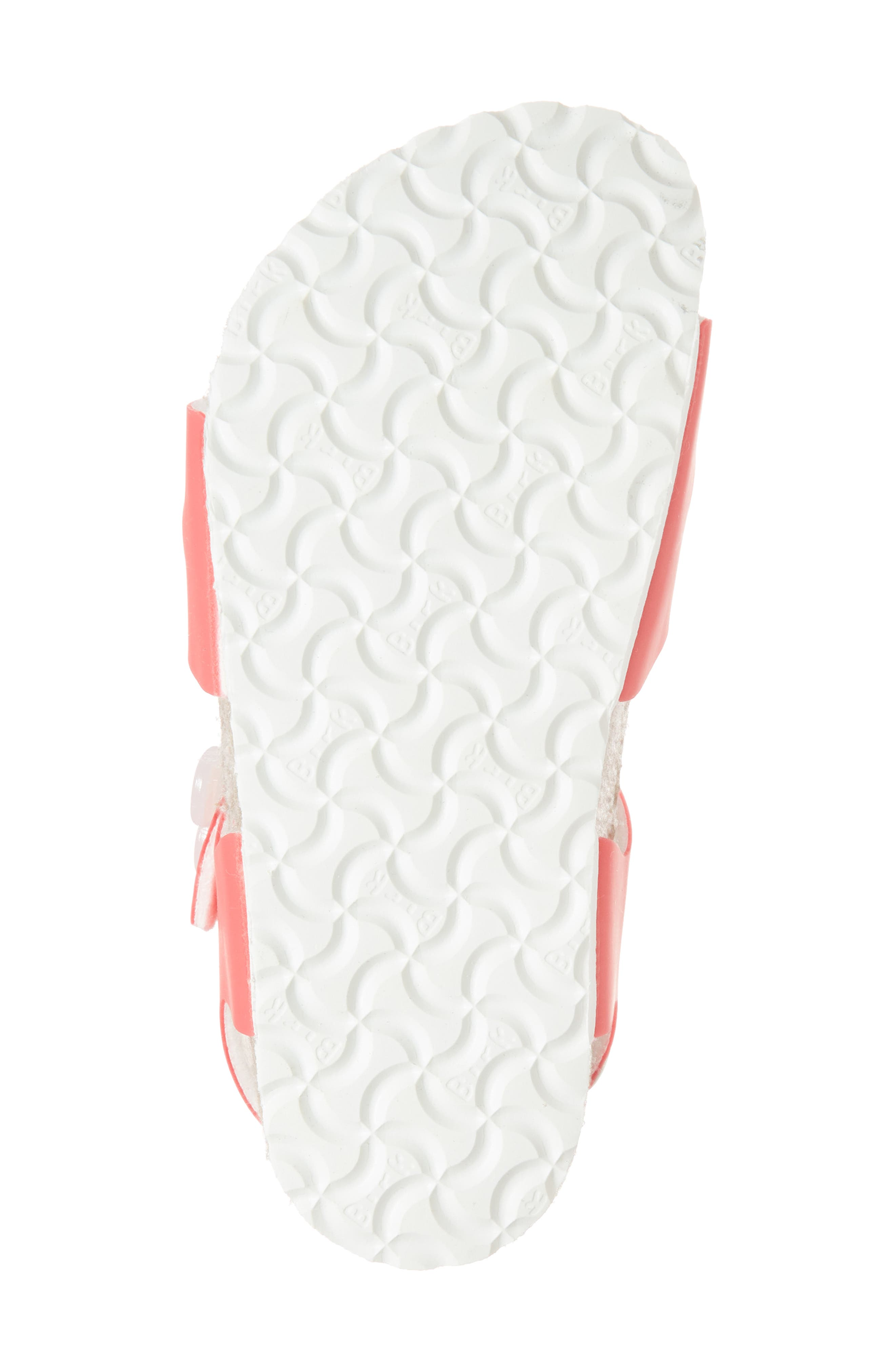 Rio Flowered Sandal,                             Alternate thumbnail 6, color,                             Candy Pink