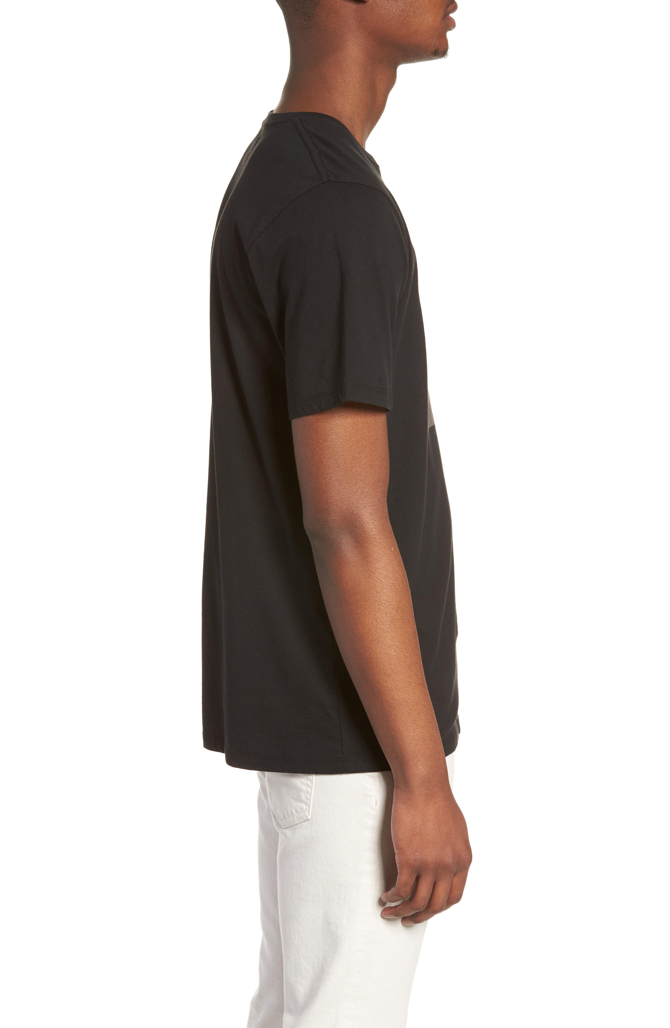 Stencil Grid T-Shirt,                             Alternate thumbnail 3, color,                             Black