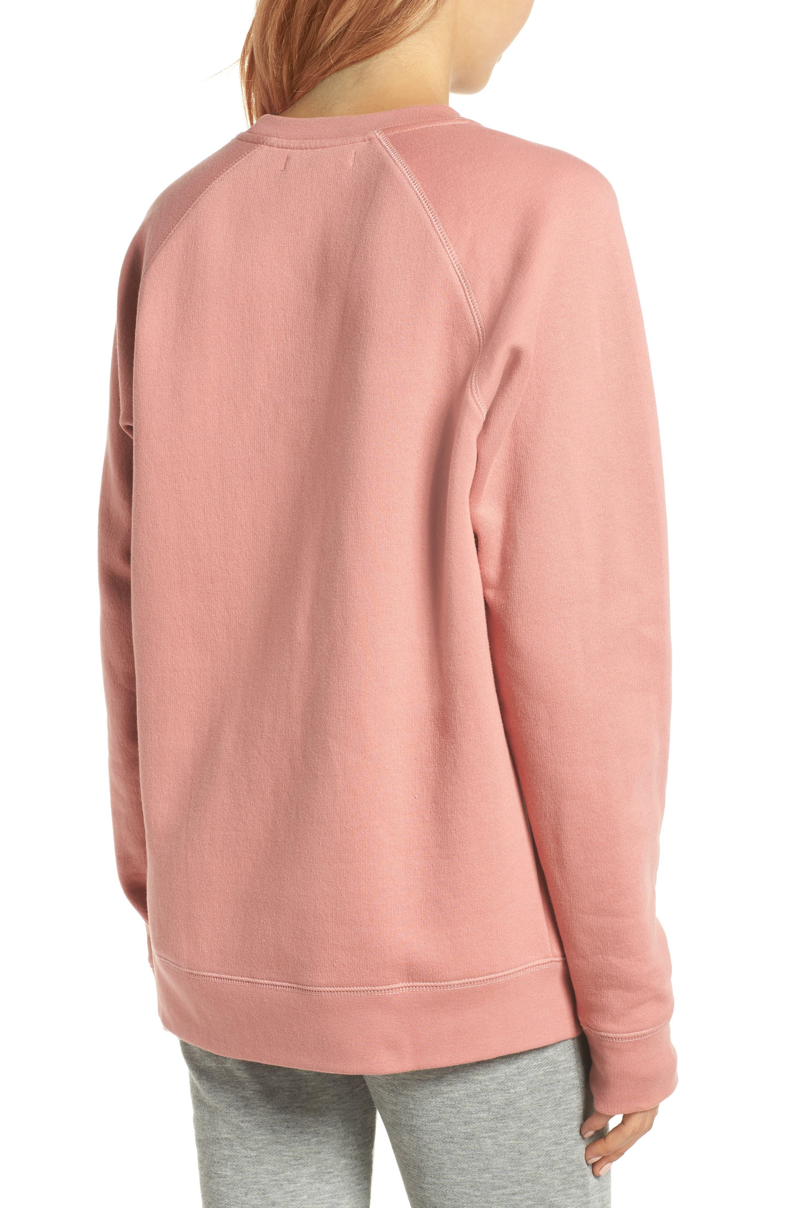 Redhead Crewneck Sweatshirt,                             Alternate thumbnail 2, color,                             Dusty Rose