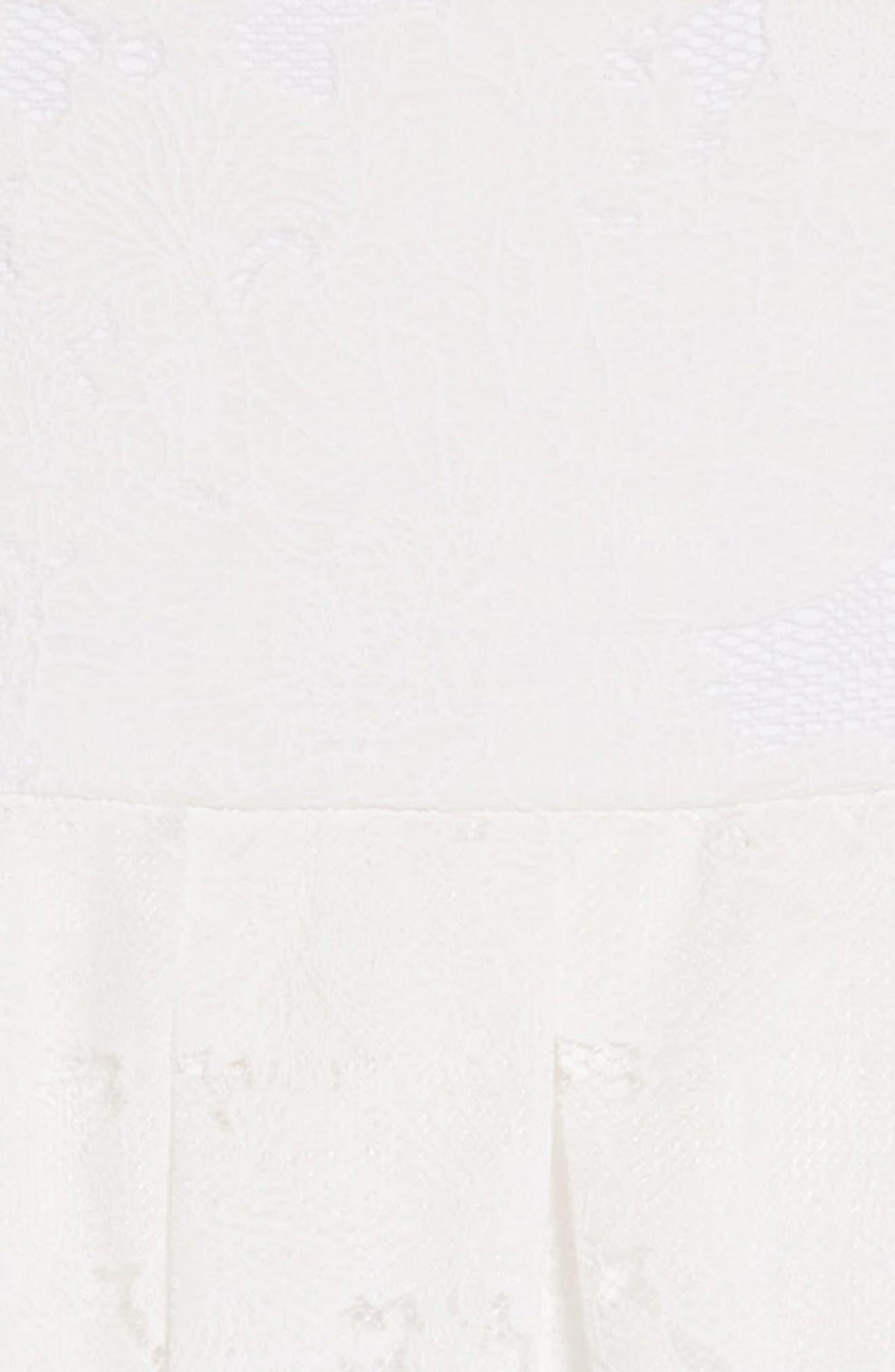 Lace Overlay Skater Dress,                             Alternate thumbnail 3, color,                             White