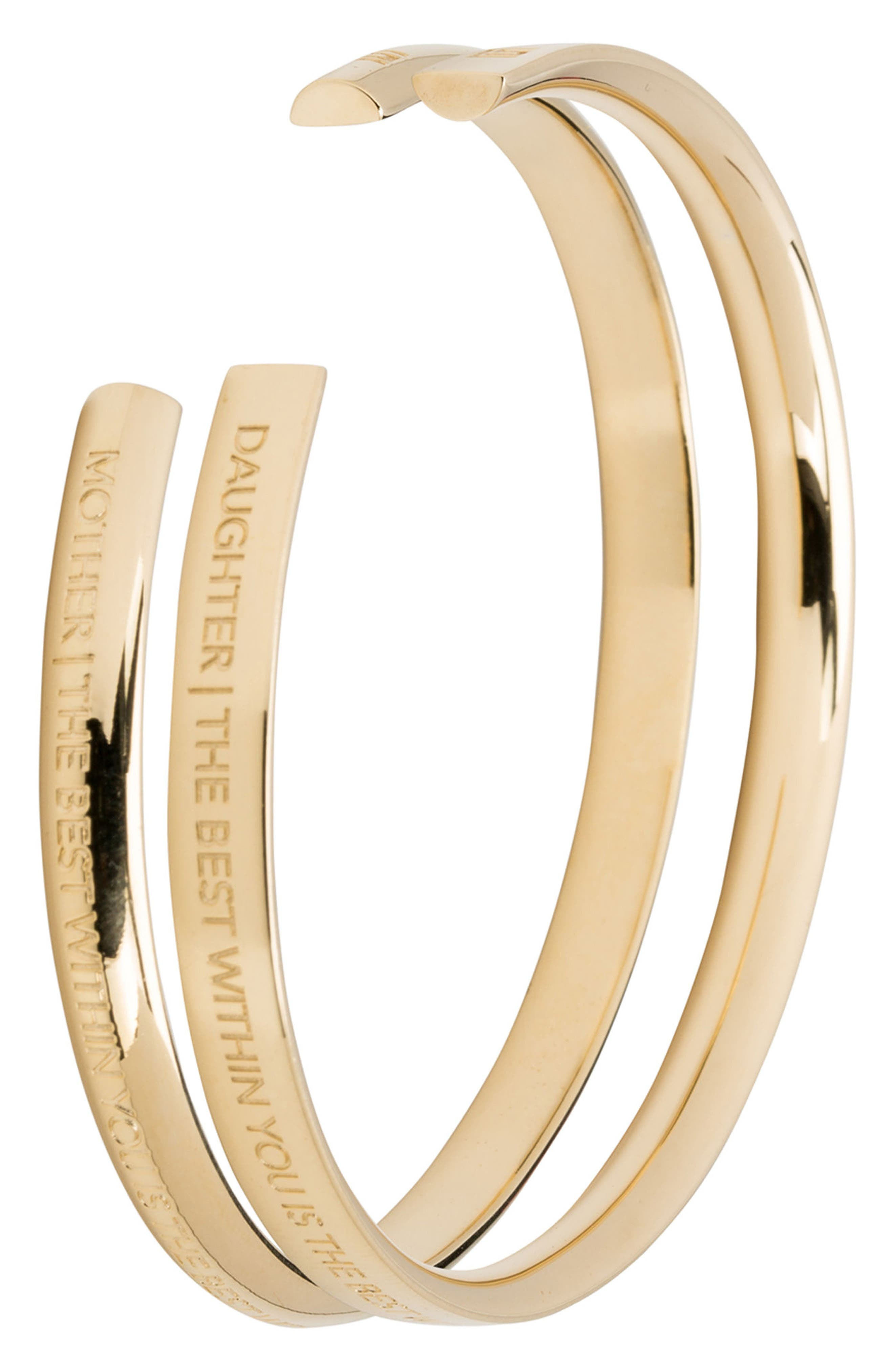 Mother & Daughter Set of 2 Cuffs,                         Main,                         color, Gold