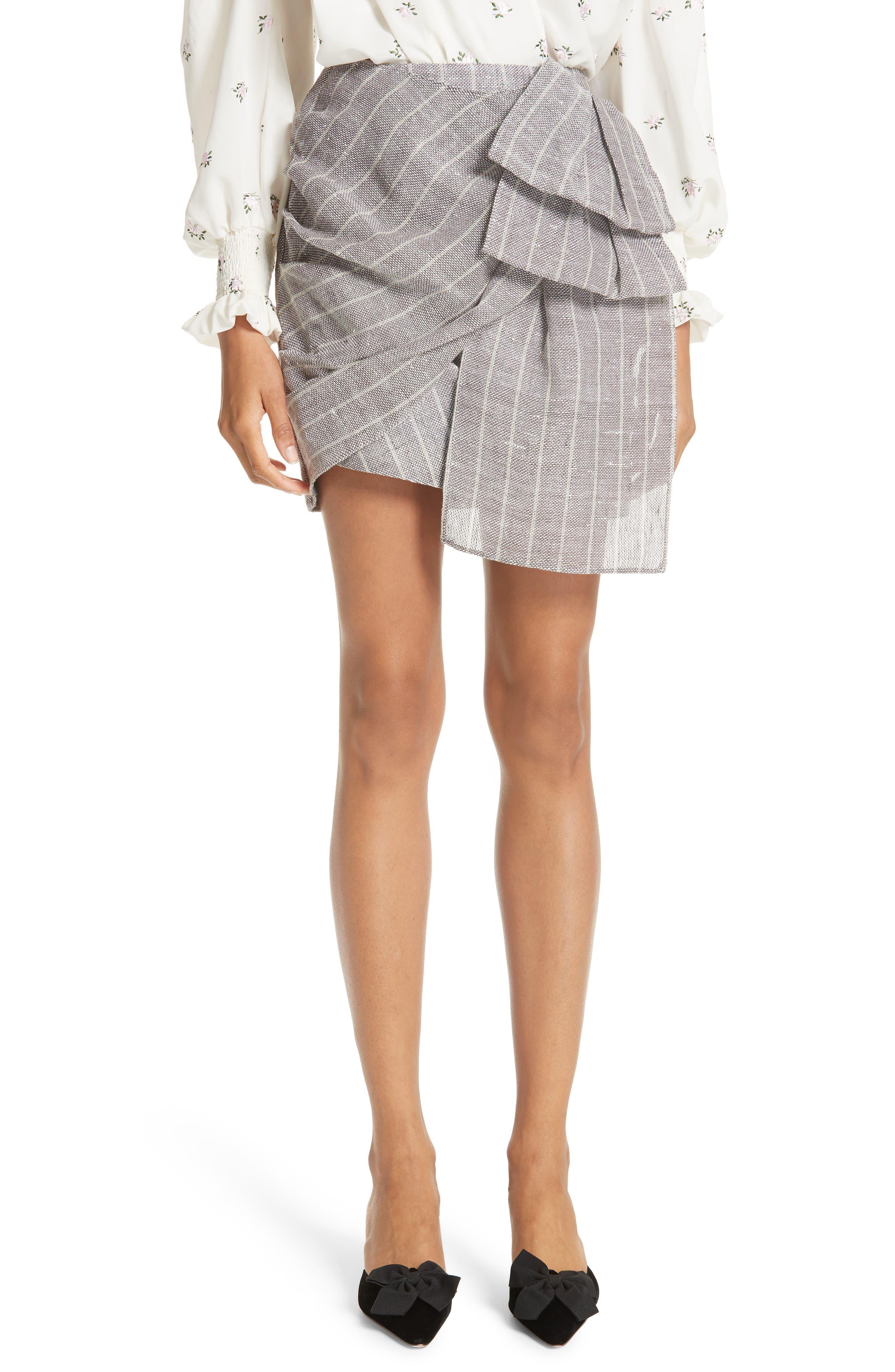 Magda Butrym Gathered Linen Miniskirt