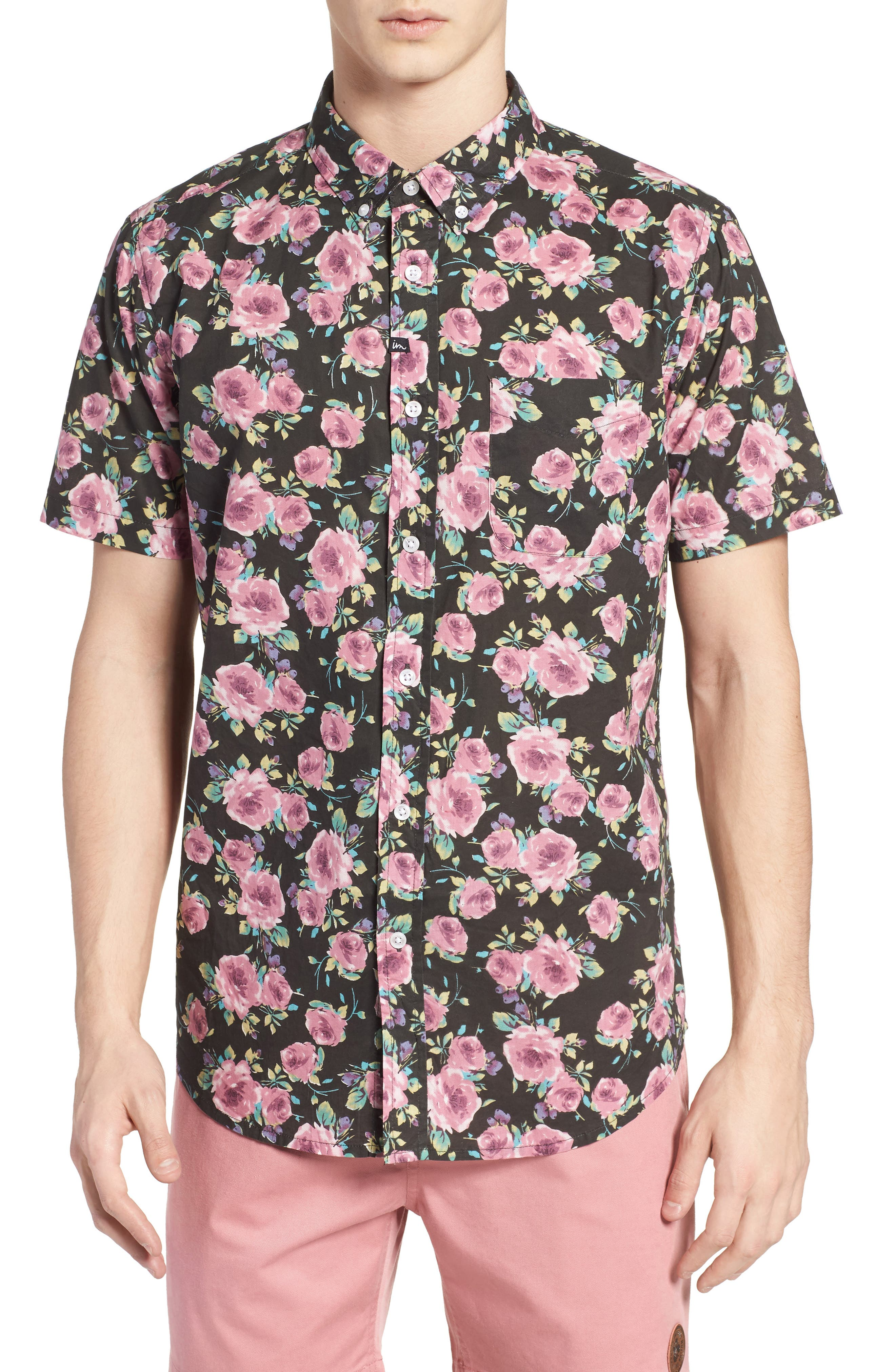Nueva Woven Shirt,                             Main thumbnail 1, color,                             Black