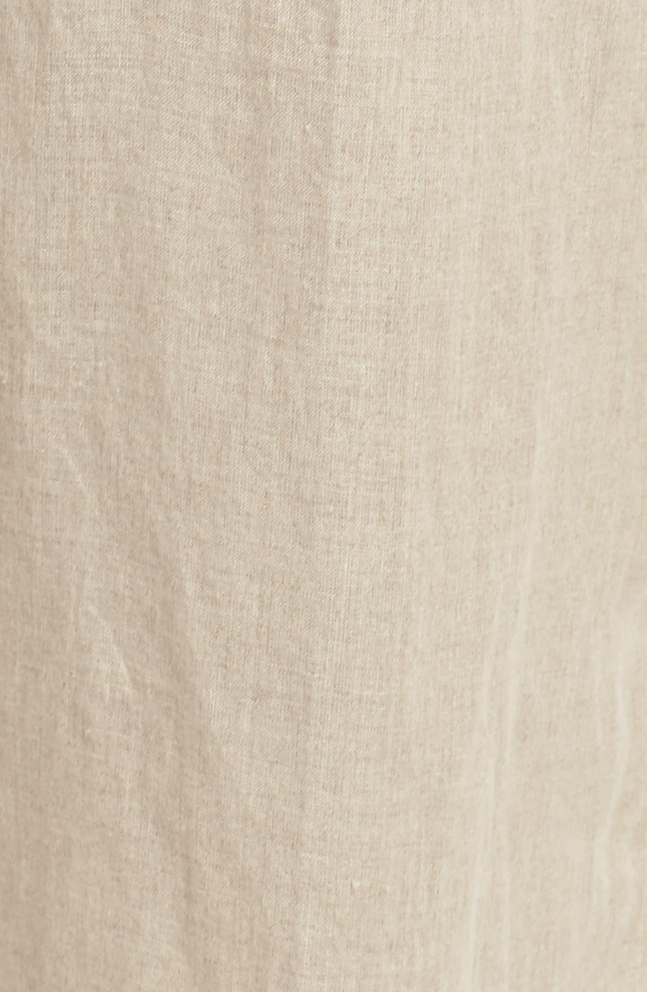 Organic Linen Ankle Pants,                             Alternate thumbnail 6, color,                             Undyed Natural