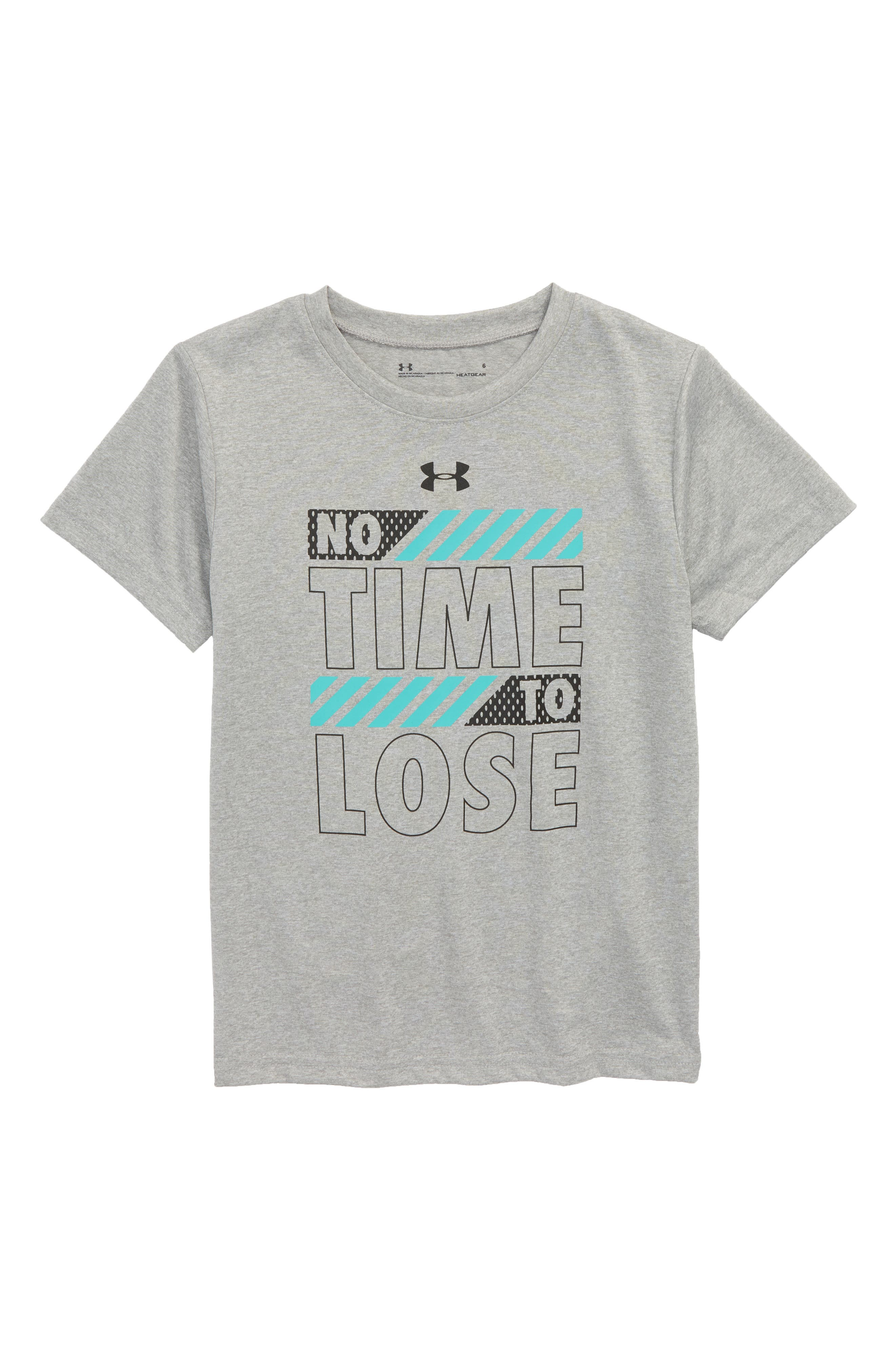 Main Image - Under Armour No Time to Lose HeatGear® T-Shirt (Toddler Boys & Little Boys)