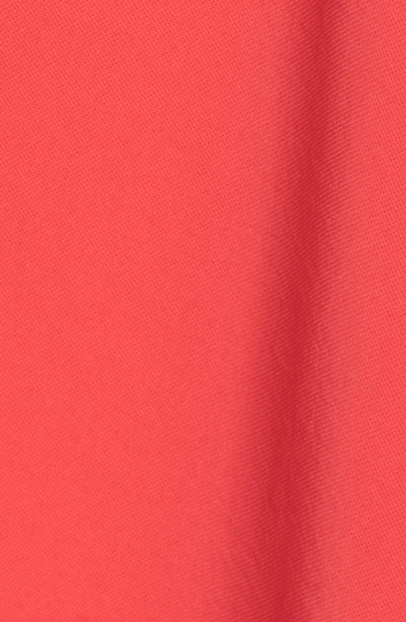 Off the Shoulder Crepe Dress,                             Alternate thumbnail 6, color,                             Geranium