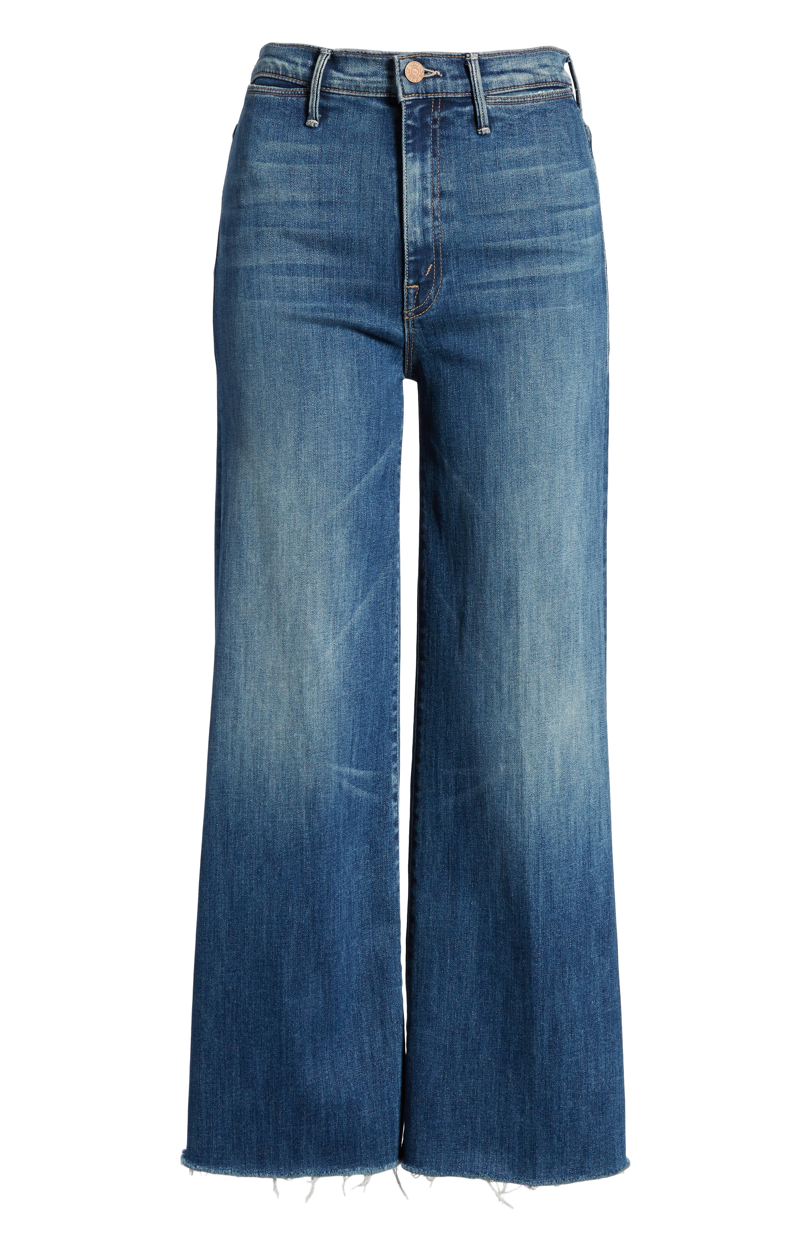 The Swooner High Waist Crop Wide Leg Jeans,                             Alternate thumbnail 6, color,                             Come Sundown
