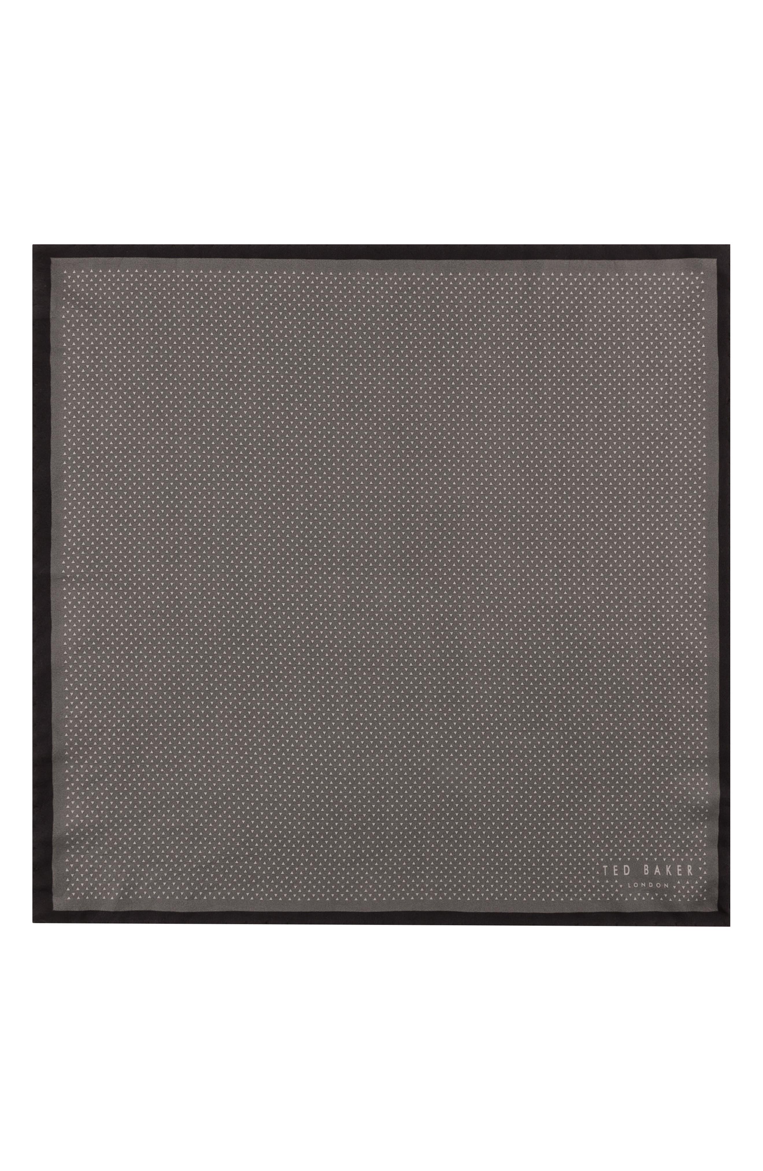 Triangle Pocket Square,                             Alternate thumbnail 2, color,                             Black
