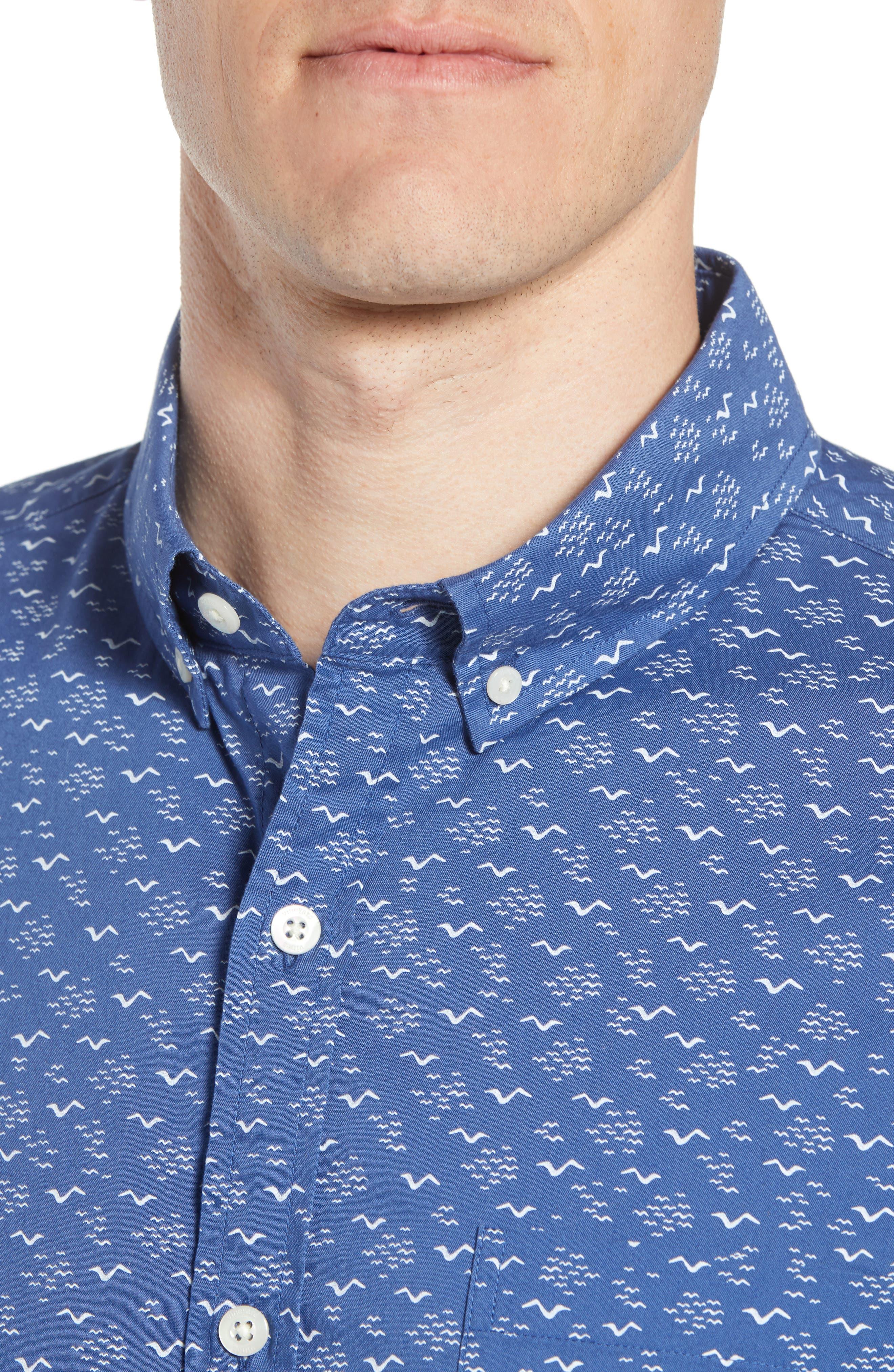 Mini Seagulls Murray Slim Fit Sport Shirt,                             Alternate thumbnail 2, color,                             Moonshine