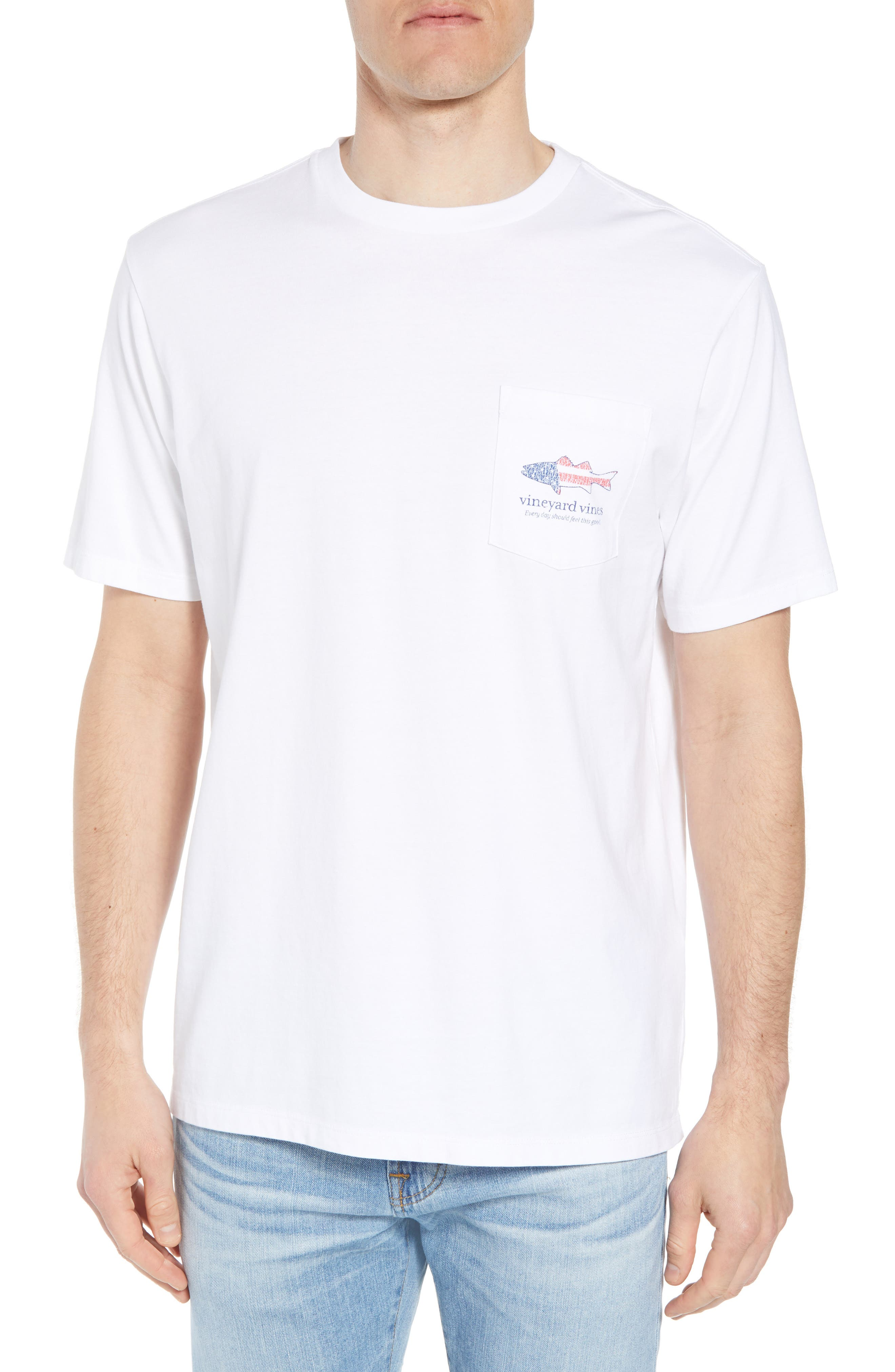 Grouper Flat Crewneck T-Shirt,                         Main,                         color, White Cap