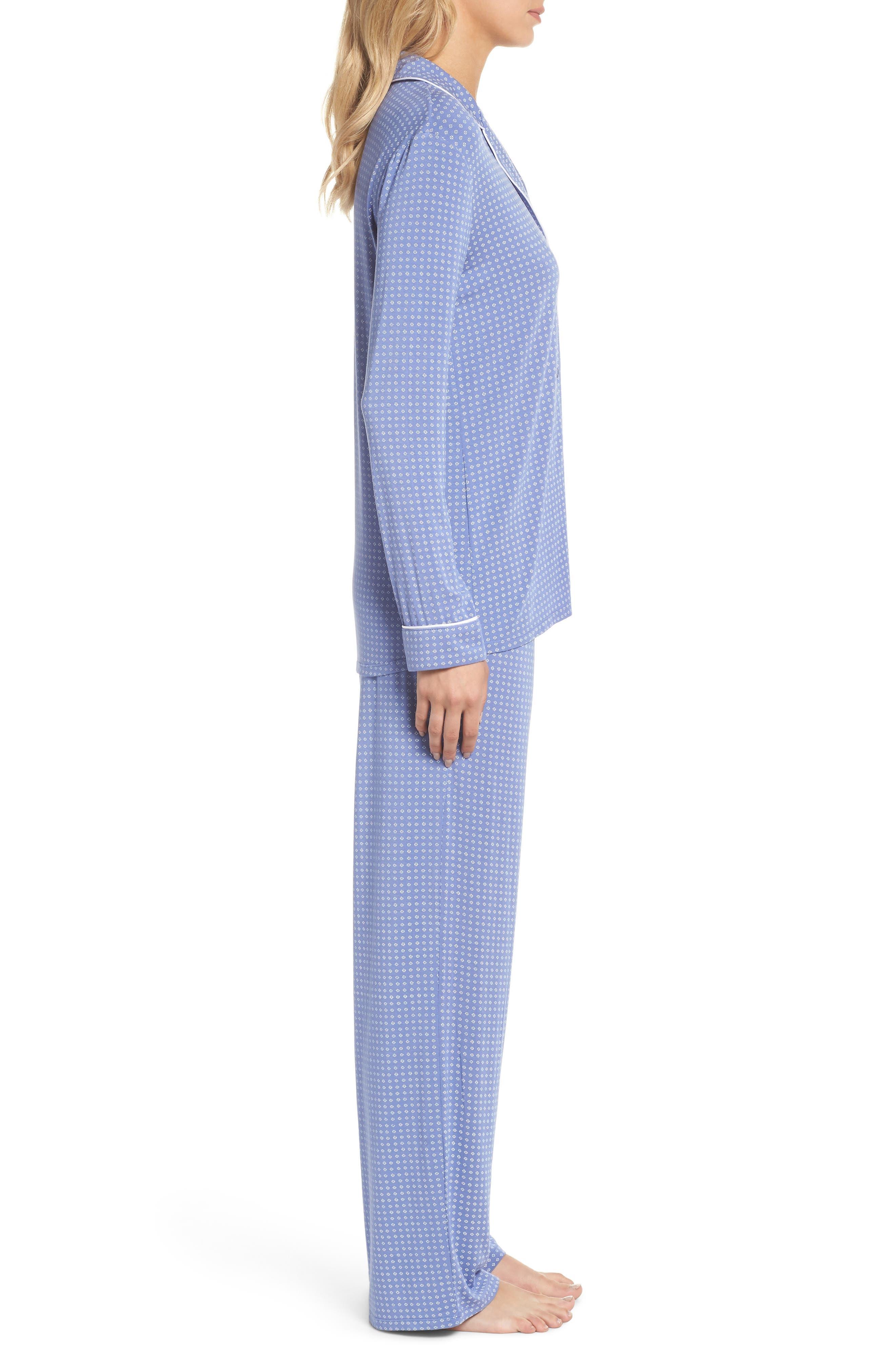 Moonlight Pajamas,                             Alternate thumbnail 3, color,                             Blue Denim Geo