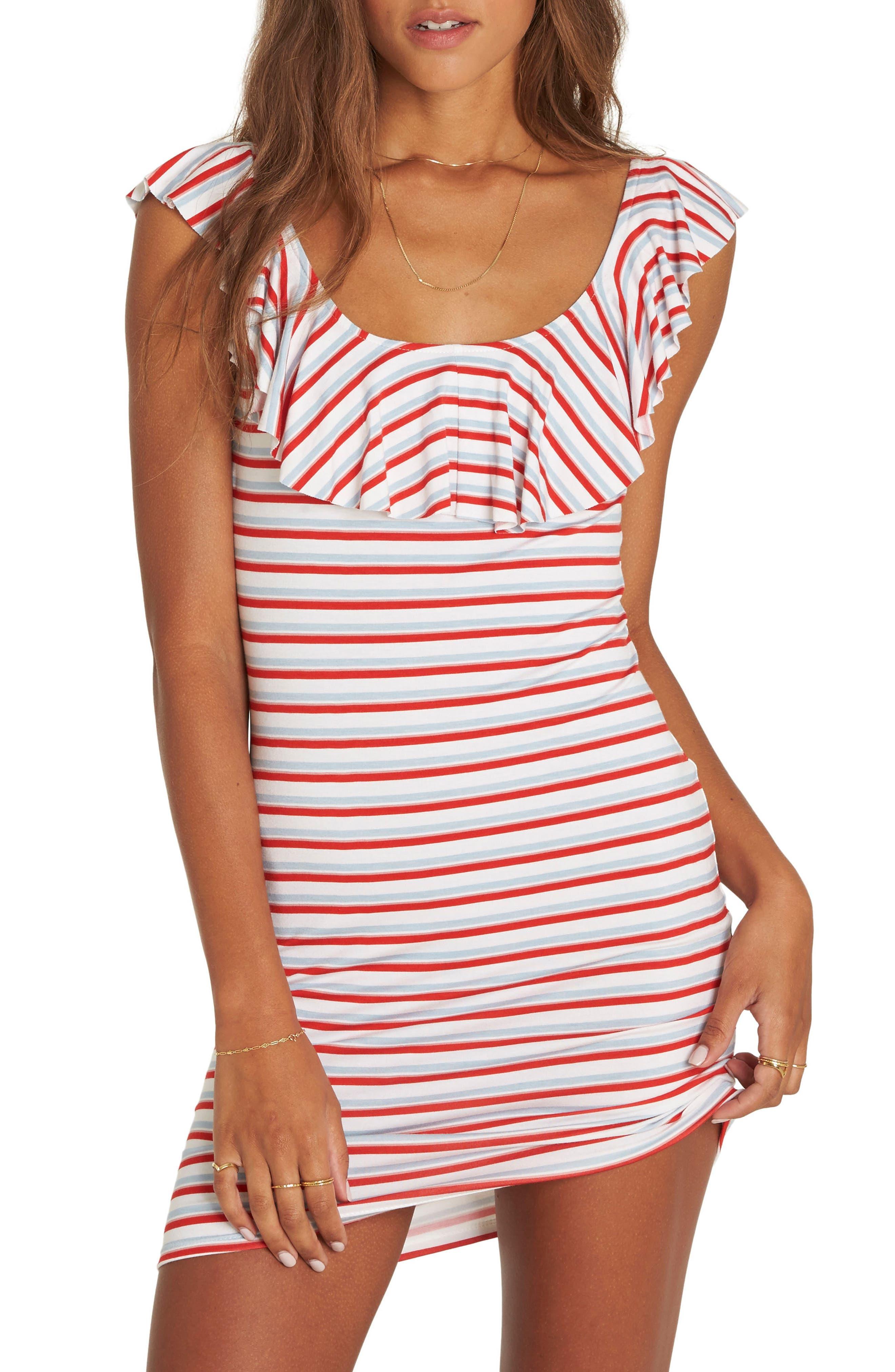 No Frills Stripe Minidress,                         Main,                         color, Multi
