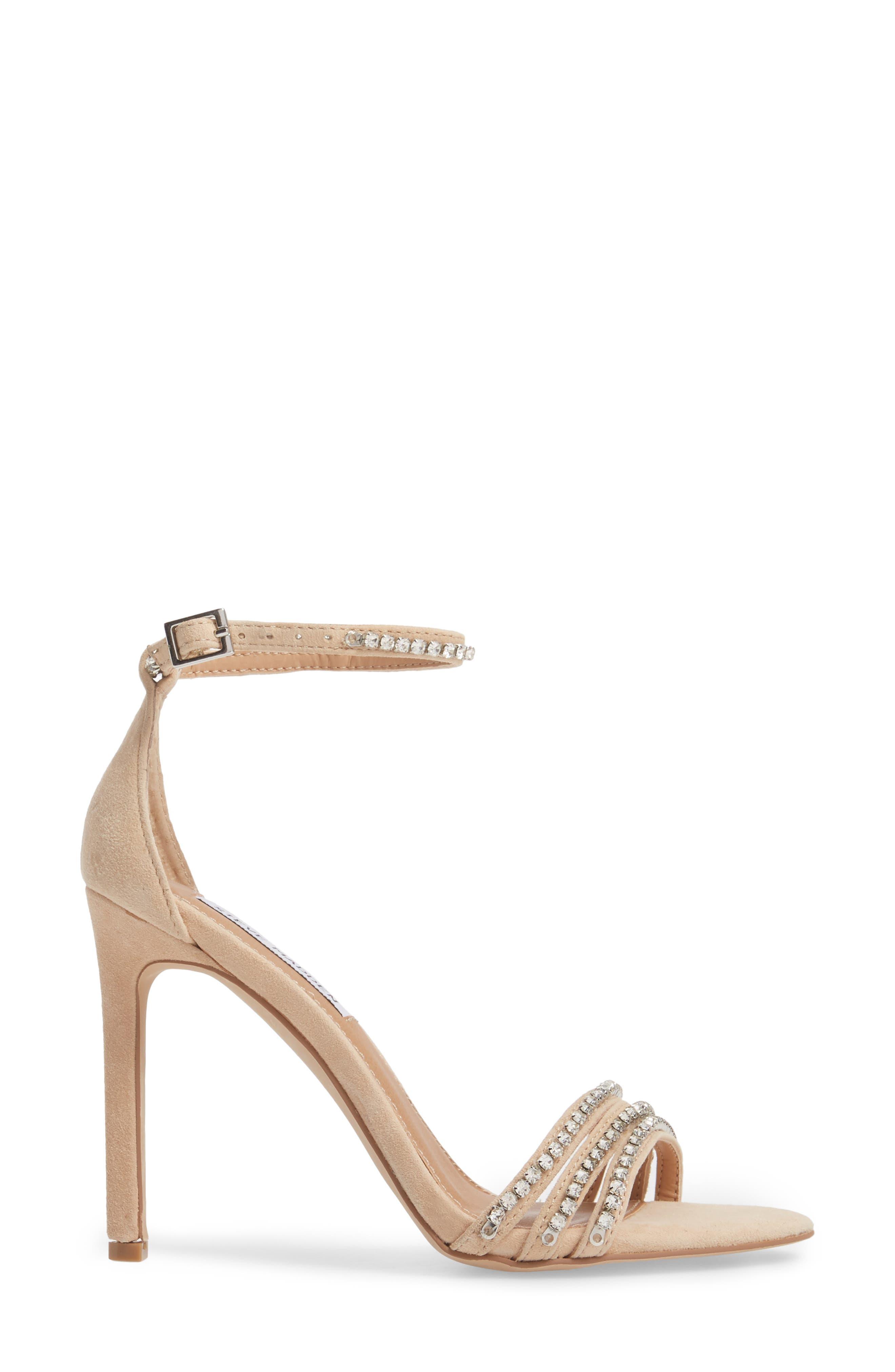 Sterling Embellished Sandal,                             Alternate thumbnail 3, color,                             Blush Multi