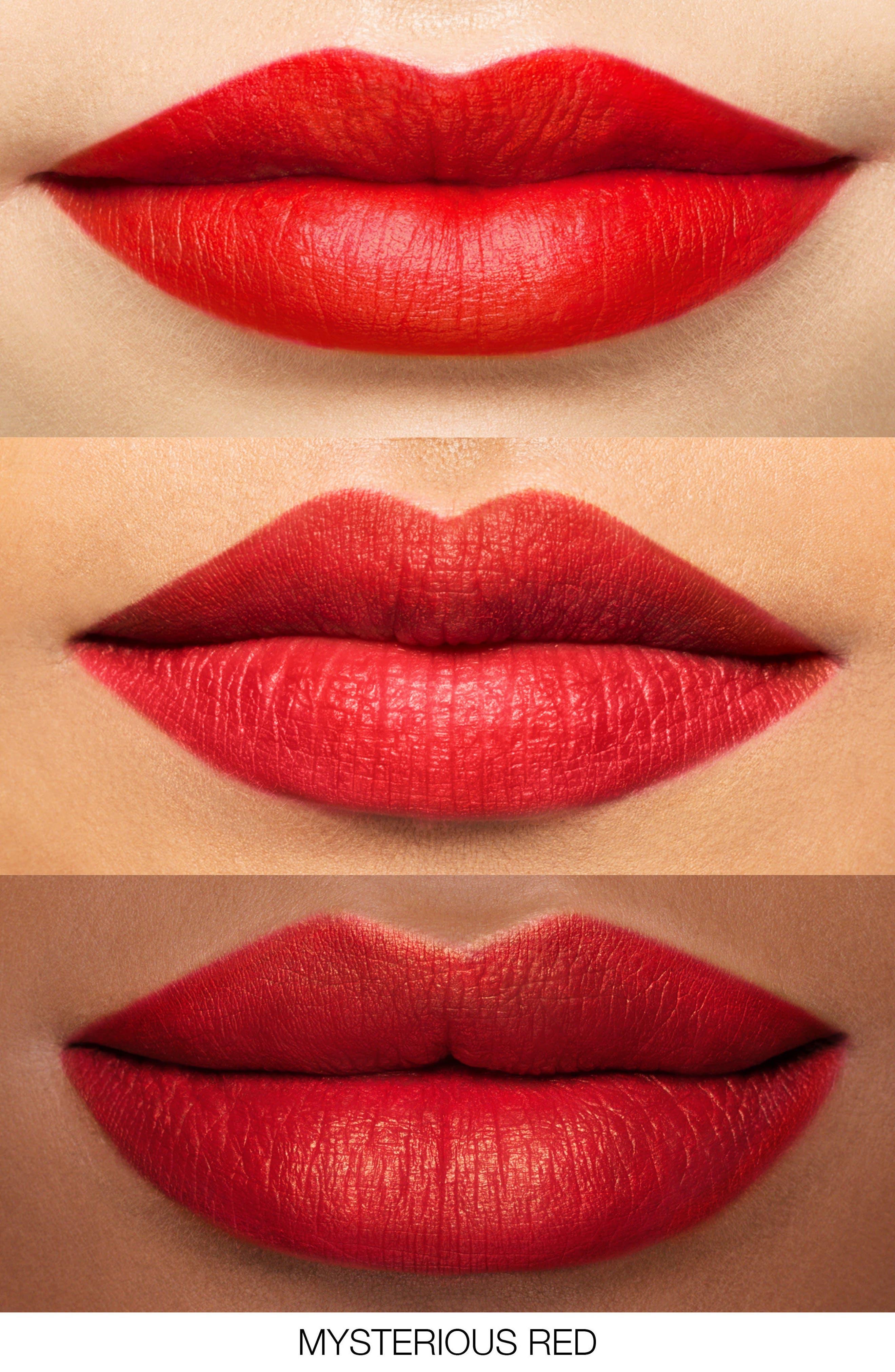 Velvet Matte Lipstick Pencil,                             Alternate thumbnail 2, color,                             Mysterious Red