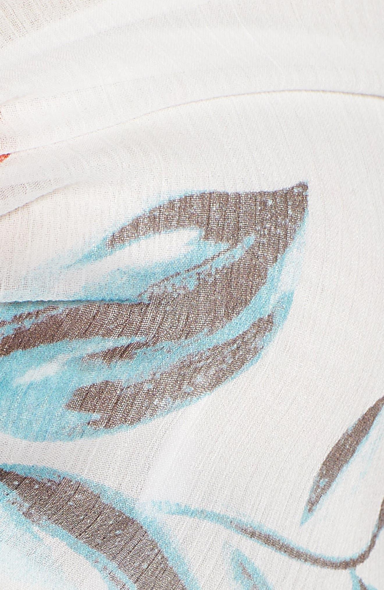 Margaret Tie Front Crop Top,                             Alternate thumbnail 6, color,                             Dahlia Floral