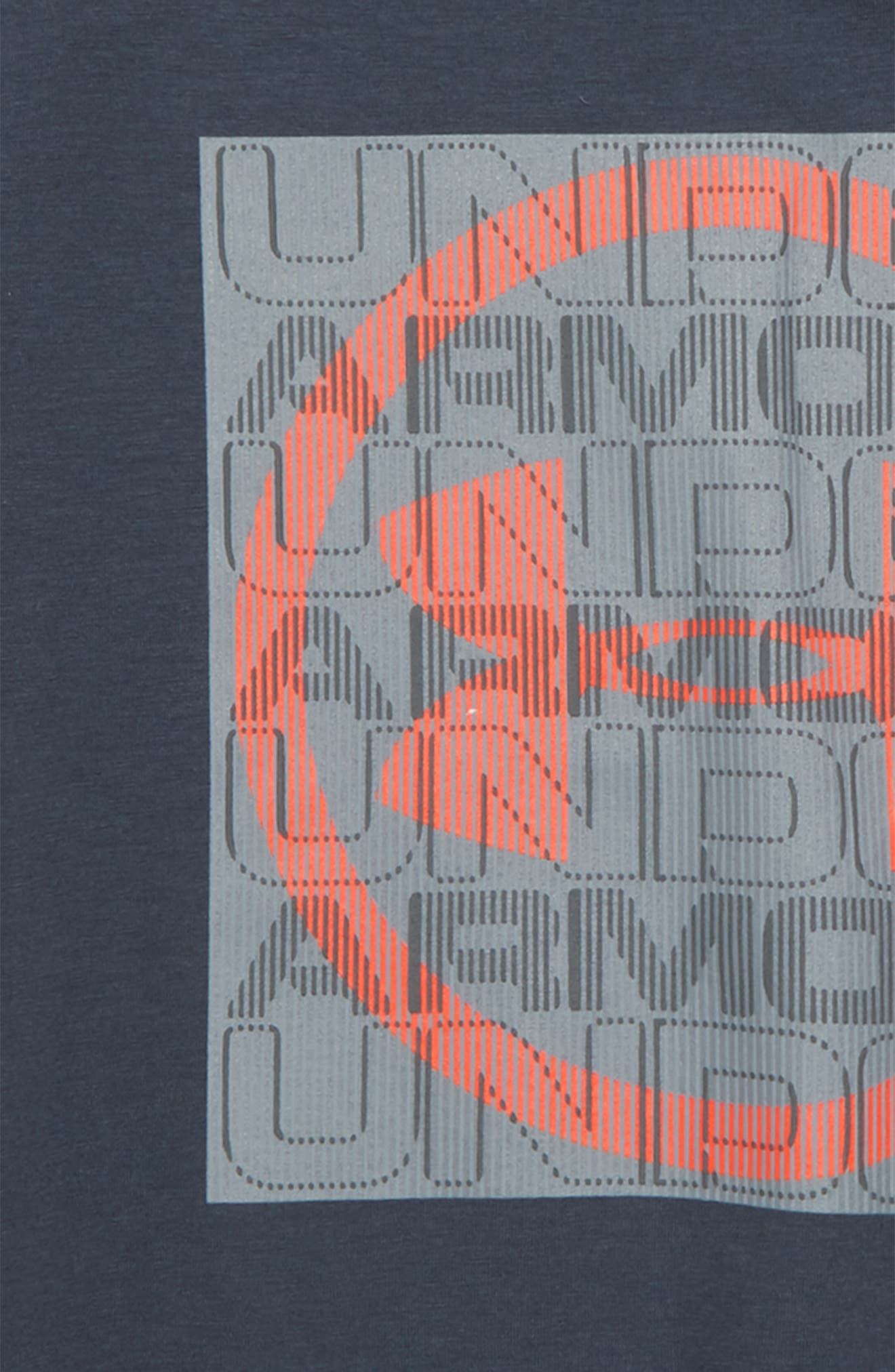 Visualogo T-Shirt,                             Alternate thumbnail 2, color,                             Stealth Gray/ Neon Coral