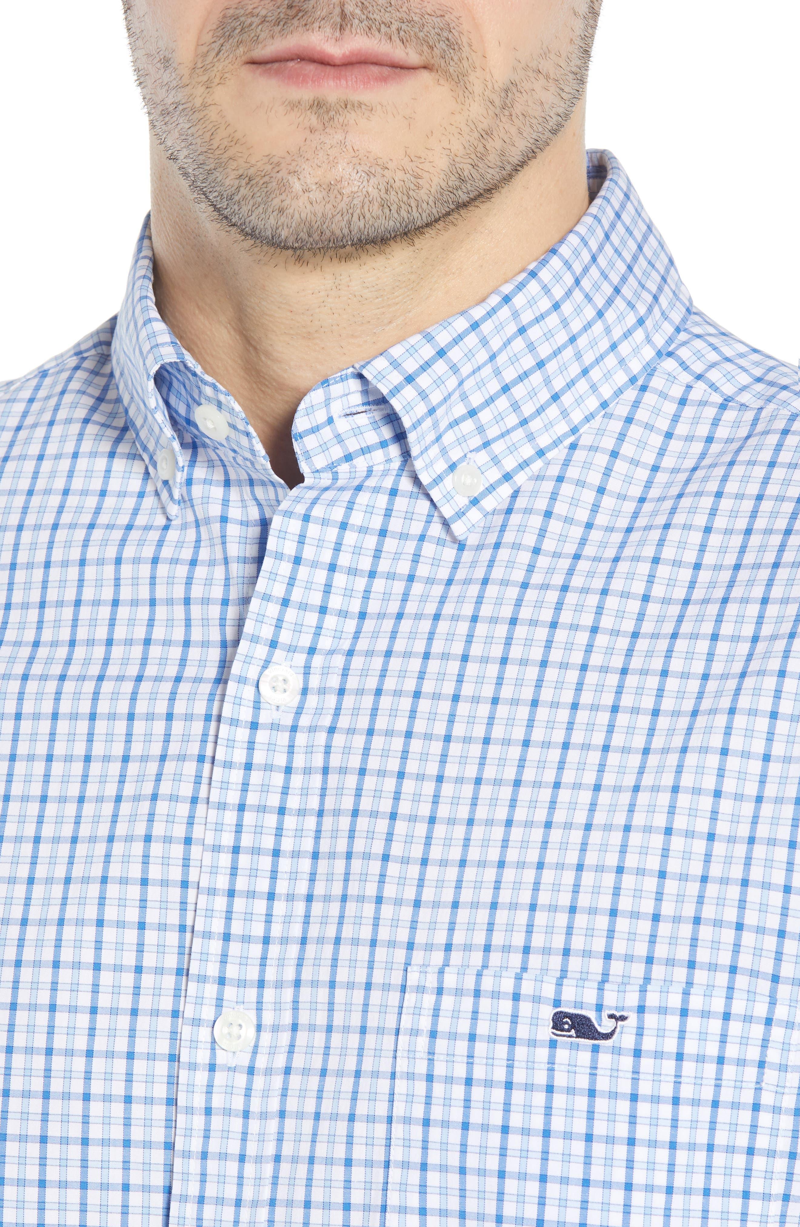 Clark Cove Tucker Classic Fit Check Sport Shirt,                             Alternate thumbnail 2, color,                             Jake Blue