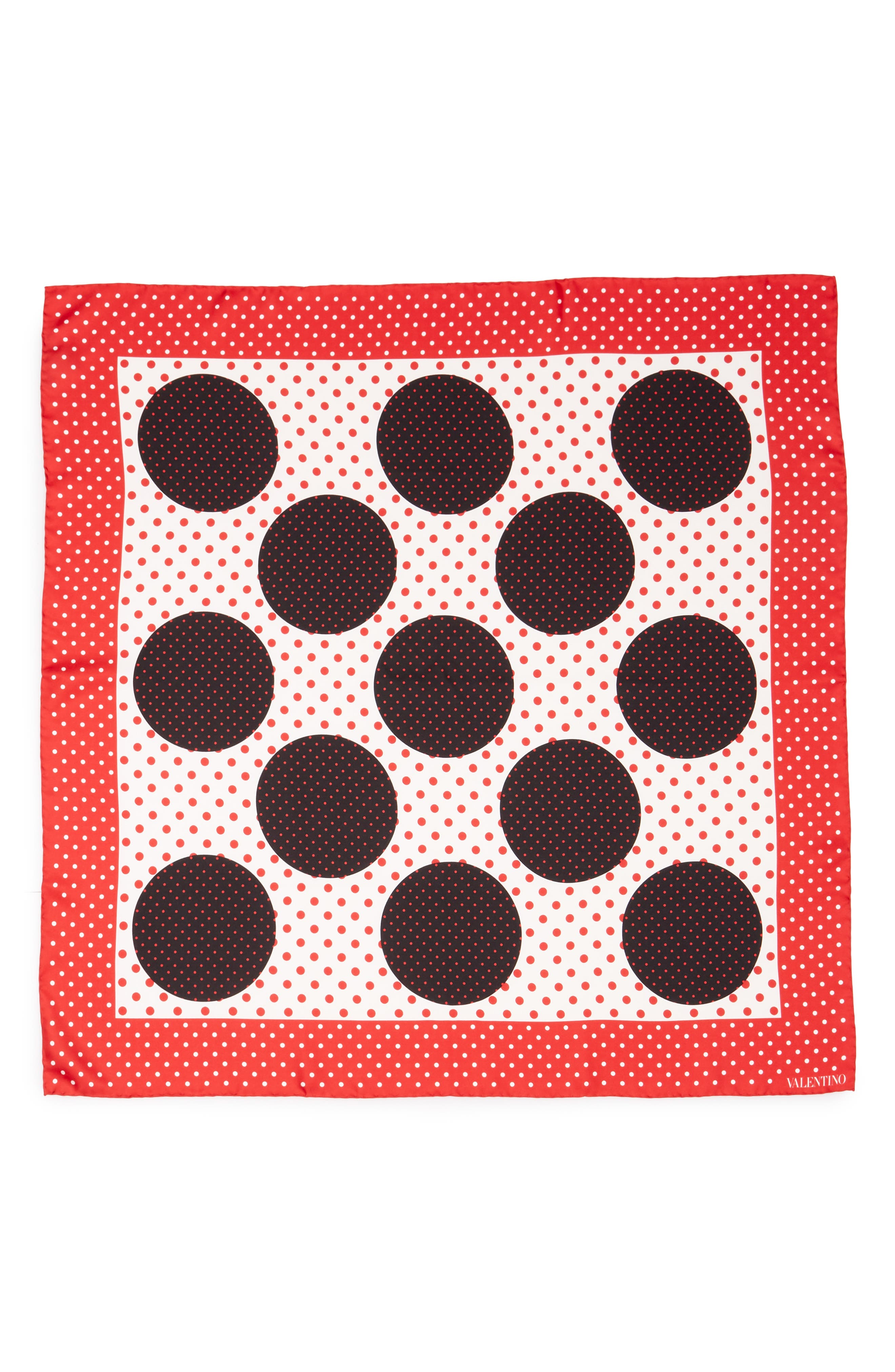Classic Dot Silk Scarf,                             Main thumbnail 1, color,                             Red Multi