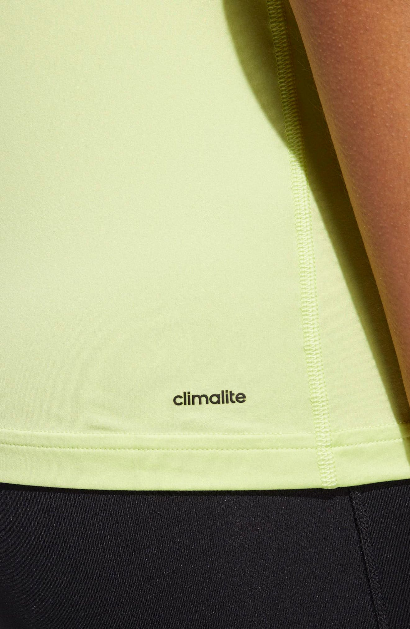 Performer Baseline Tank Top,                             Alternate thumbnail 6, color,                             Semi Frozen Yellow/ Black