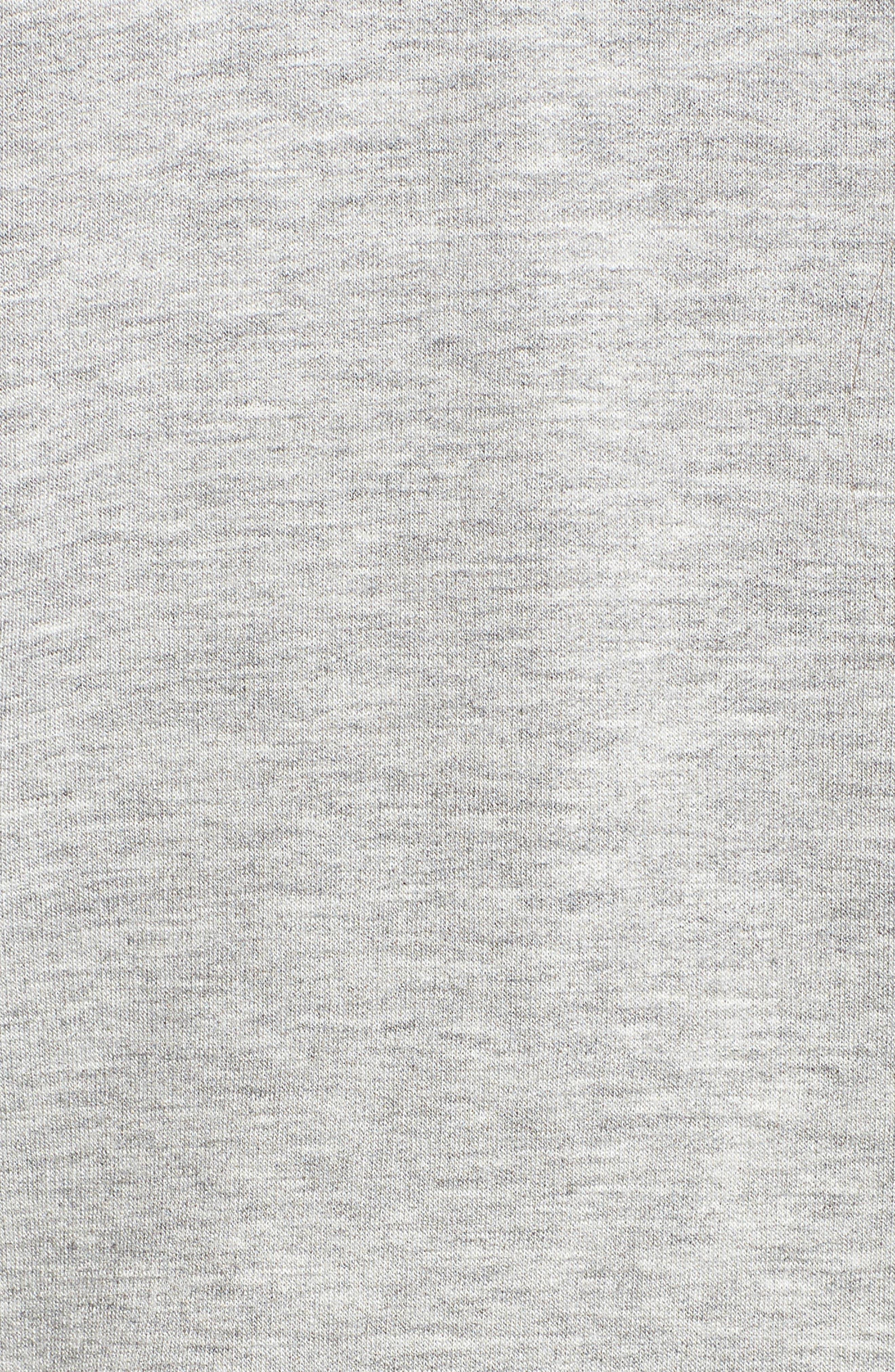 Off-Duty Fleece Knit Cardigan,                             Alternate thumbnail 5, color,                             Grey Heather