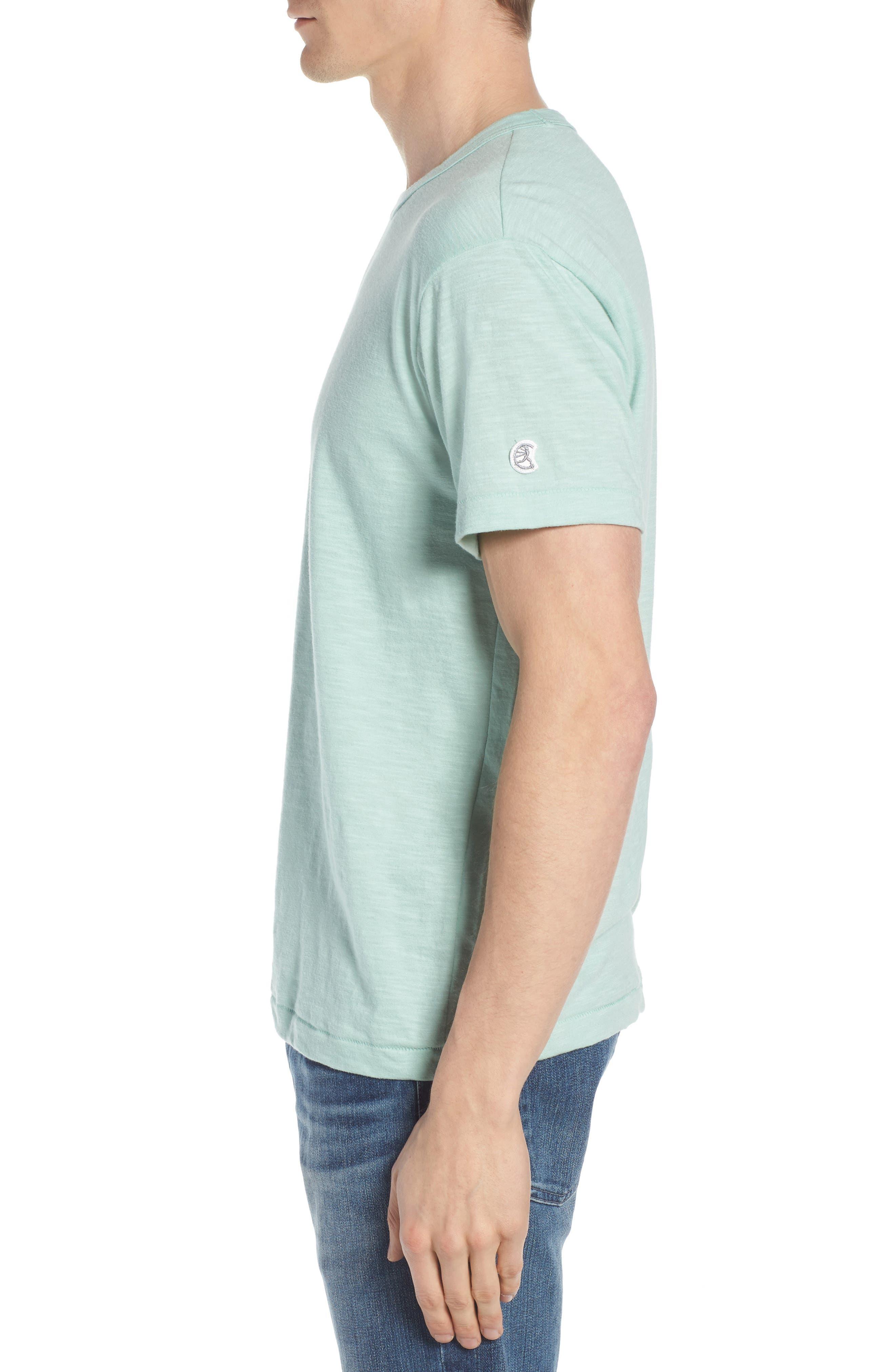+ Champion Crewneck T-Shirt,                             Alternate thumbnail 3, color,                             Vintage Aqua