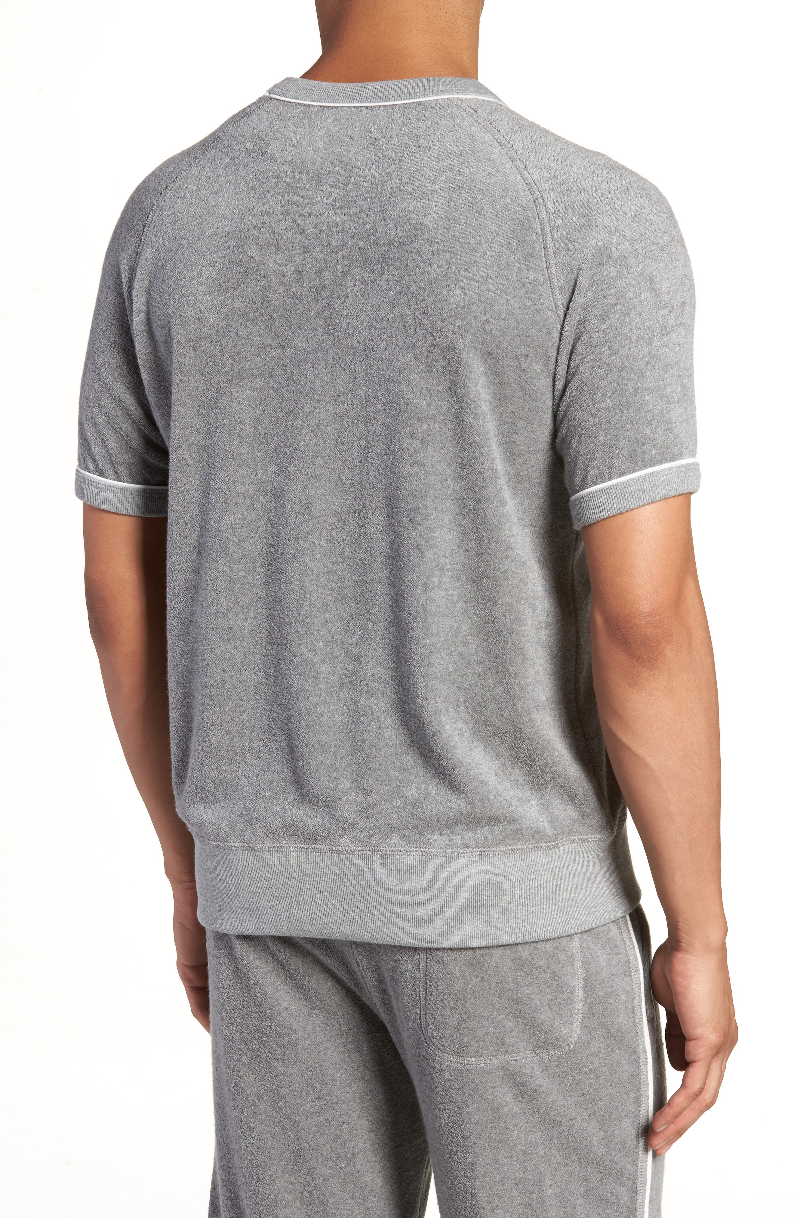+ Champion Short Sleeve Terry Sweatshirt,                             Alternate thumbnail 2, color,                             Grey