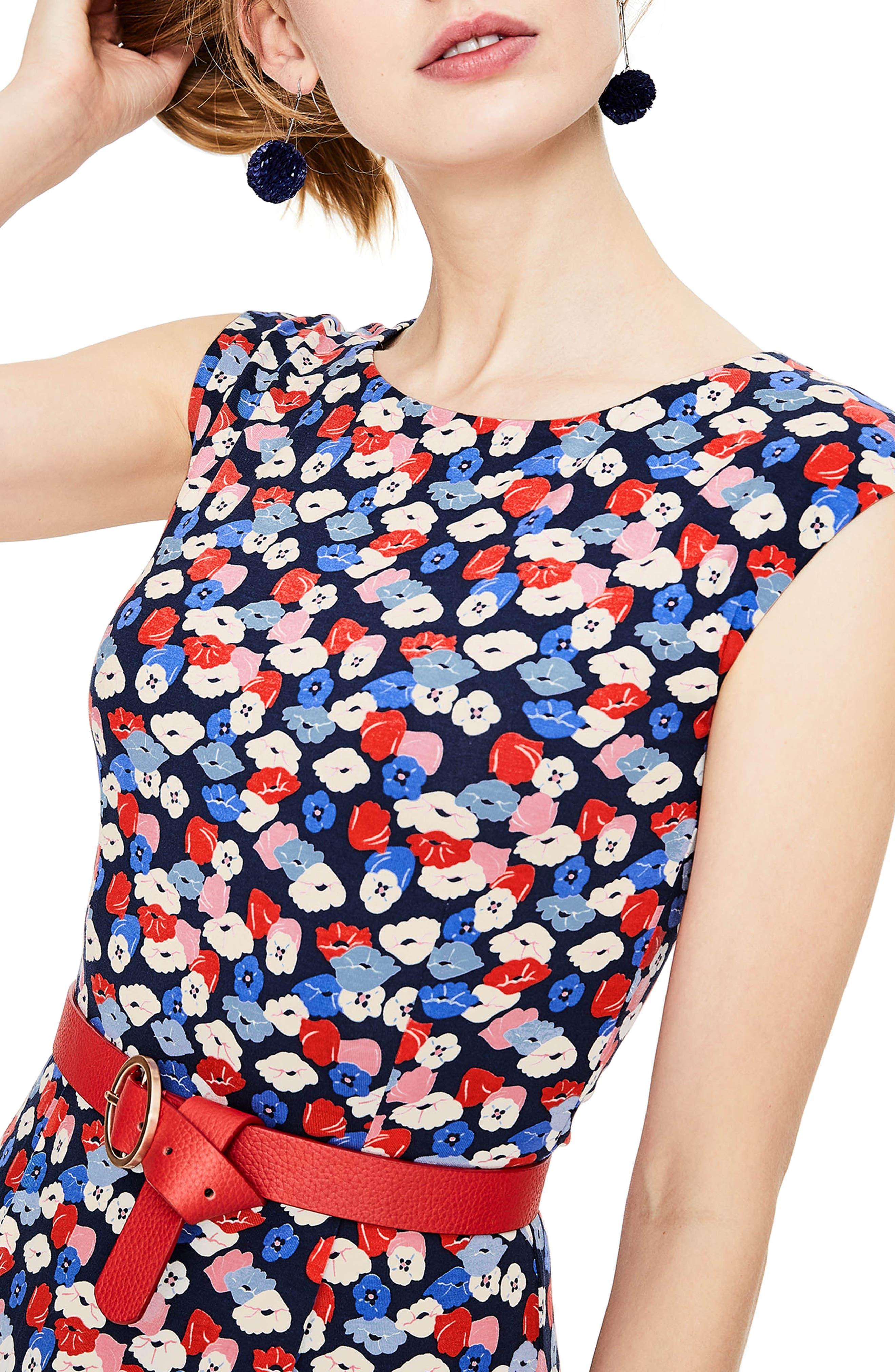 Alternate Image 3  - Boden Marina Belted Floral Jersey Dress