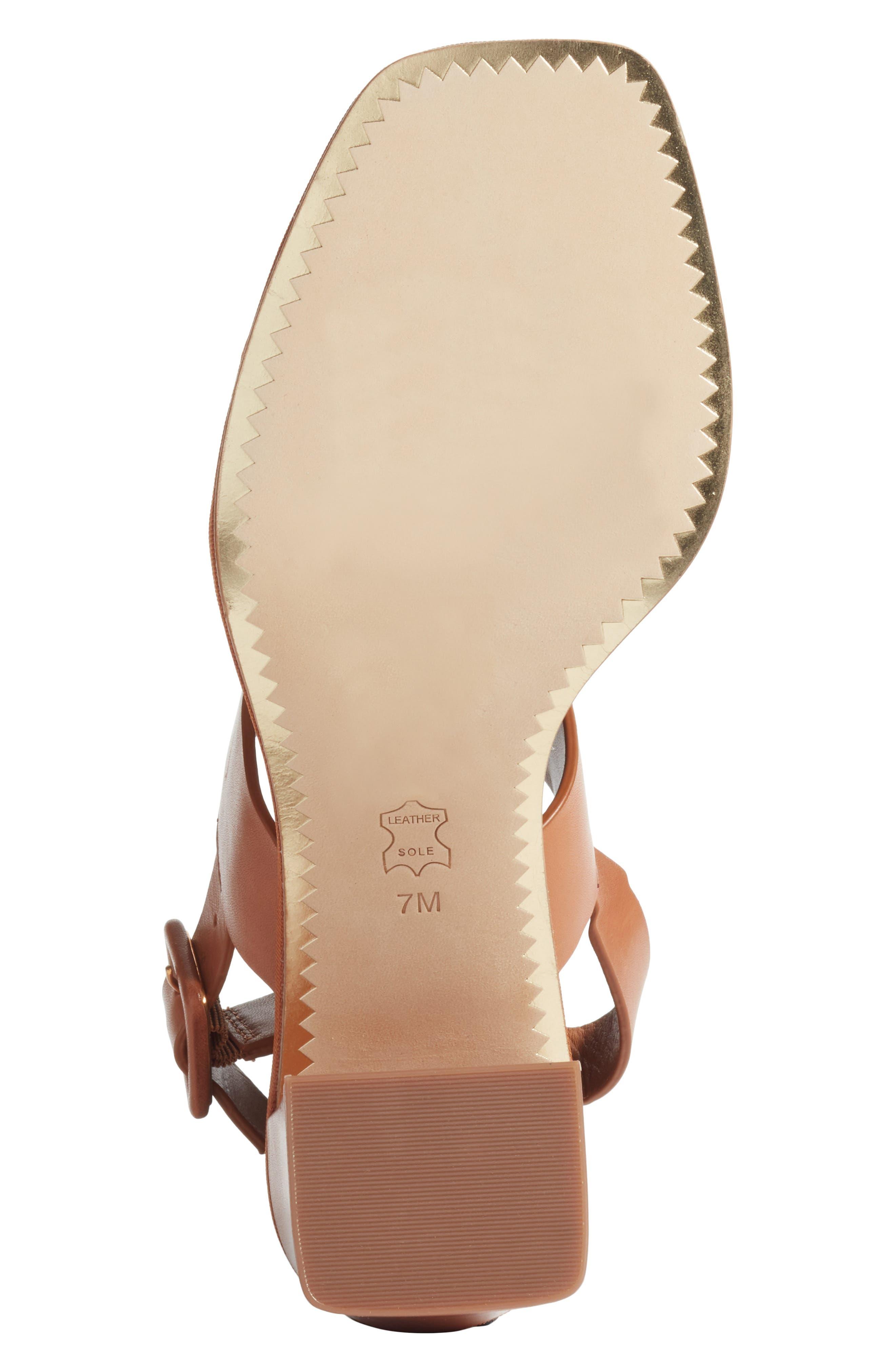 Delaney Embellished Double Strap Sandal,                             Alternate thumbnail 6, color,                             Tan/ Tan