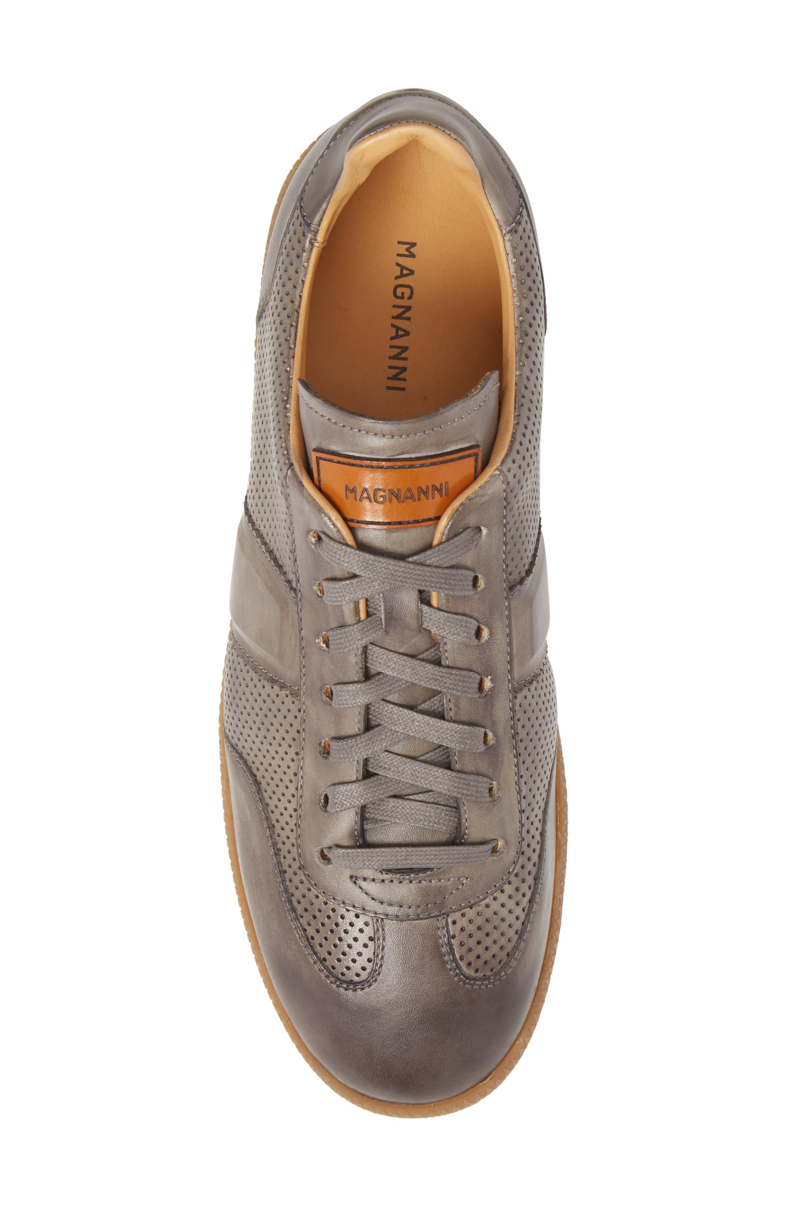 Xavi Embossed Low Top Sneaker,                             Alternate thumbnail 5, color,                             Grey/ Grey Leather