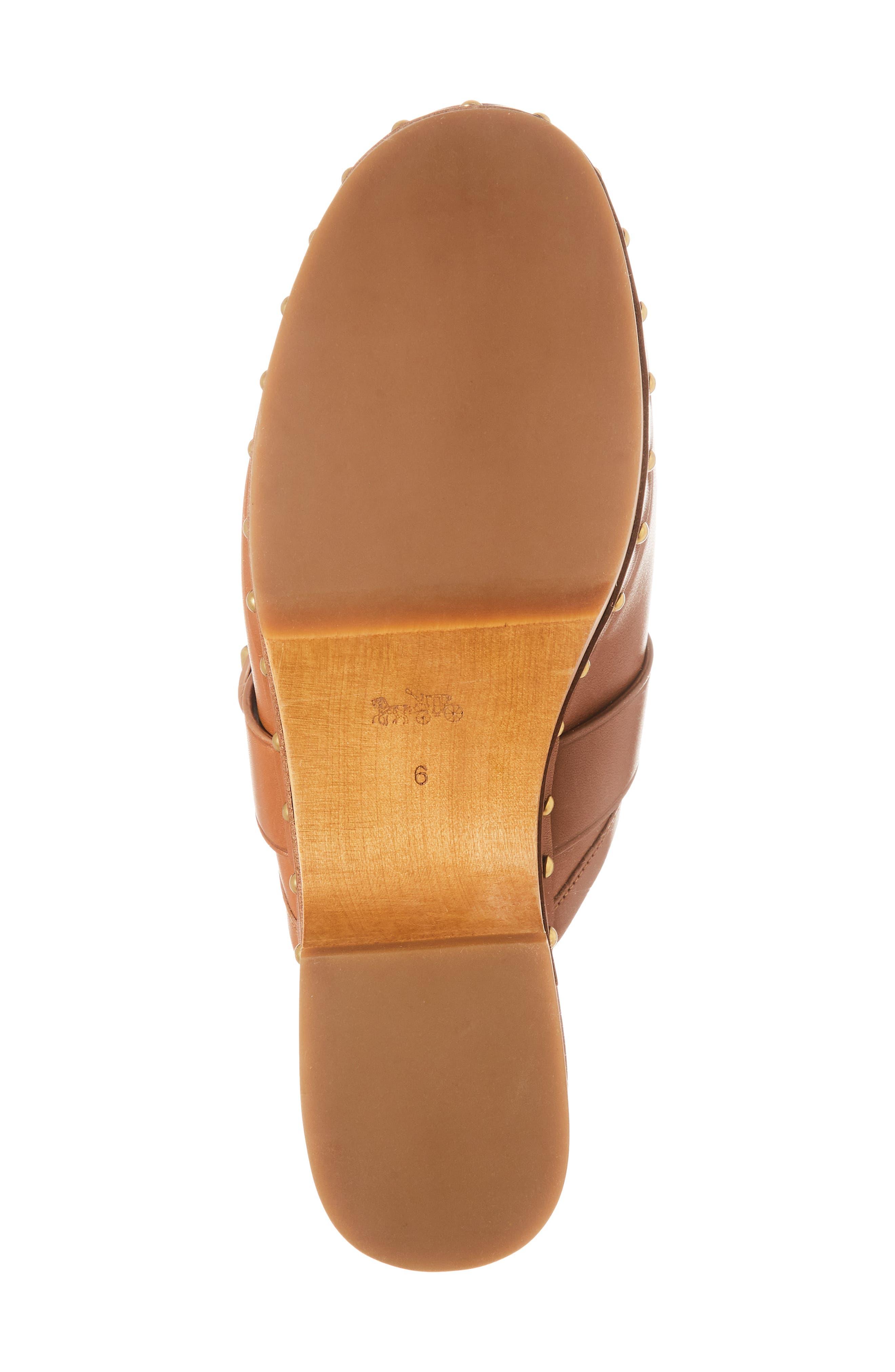 Turnlock Clog,                             Alternate thumbnail 6, color,                             Saddle Leather