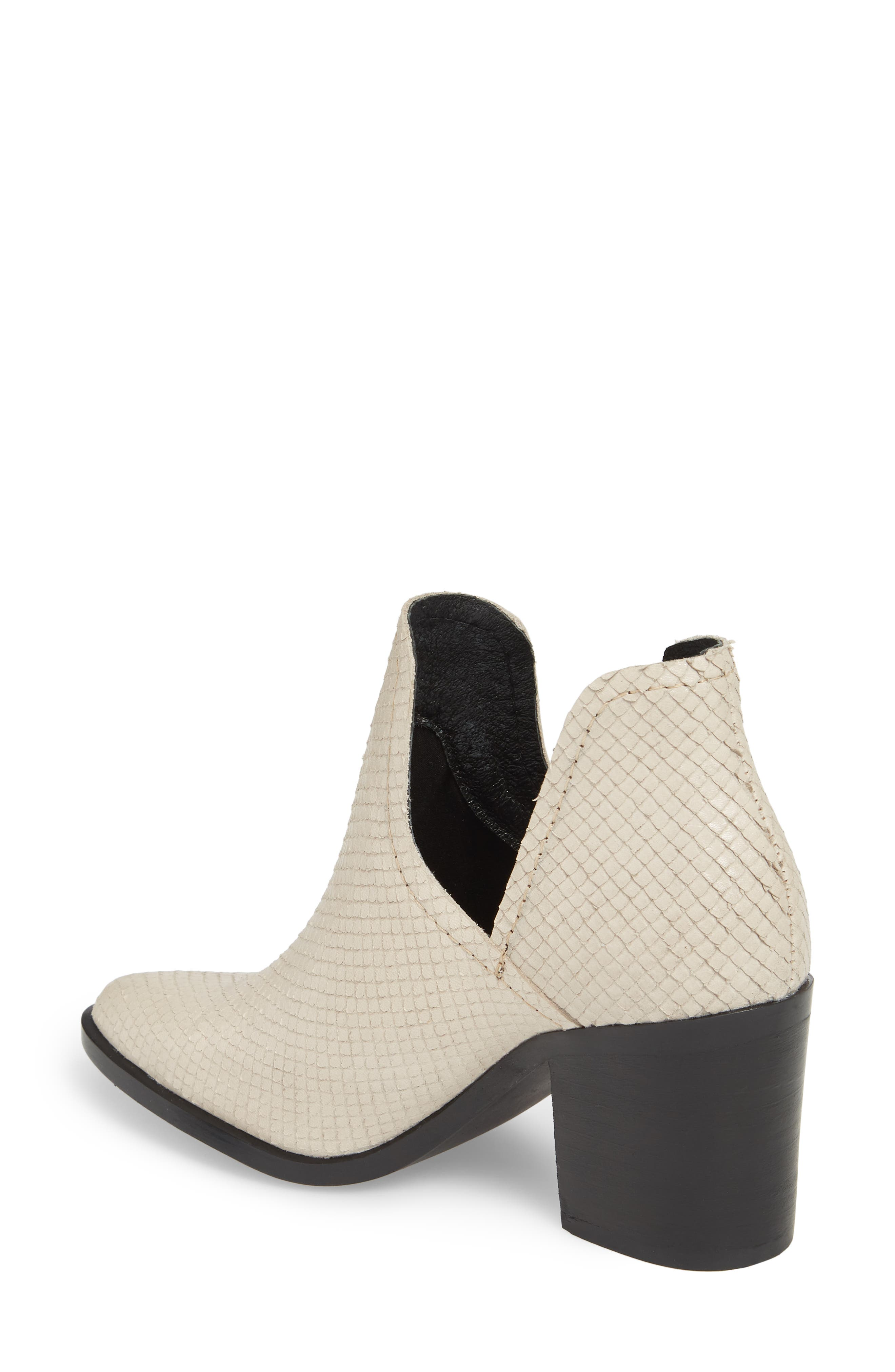 Petra Open Side Bootie,                             Alternate thumbnail 2, color,                             White Snake Print