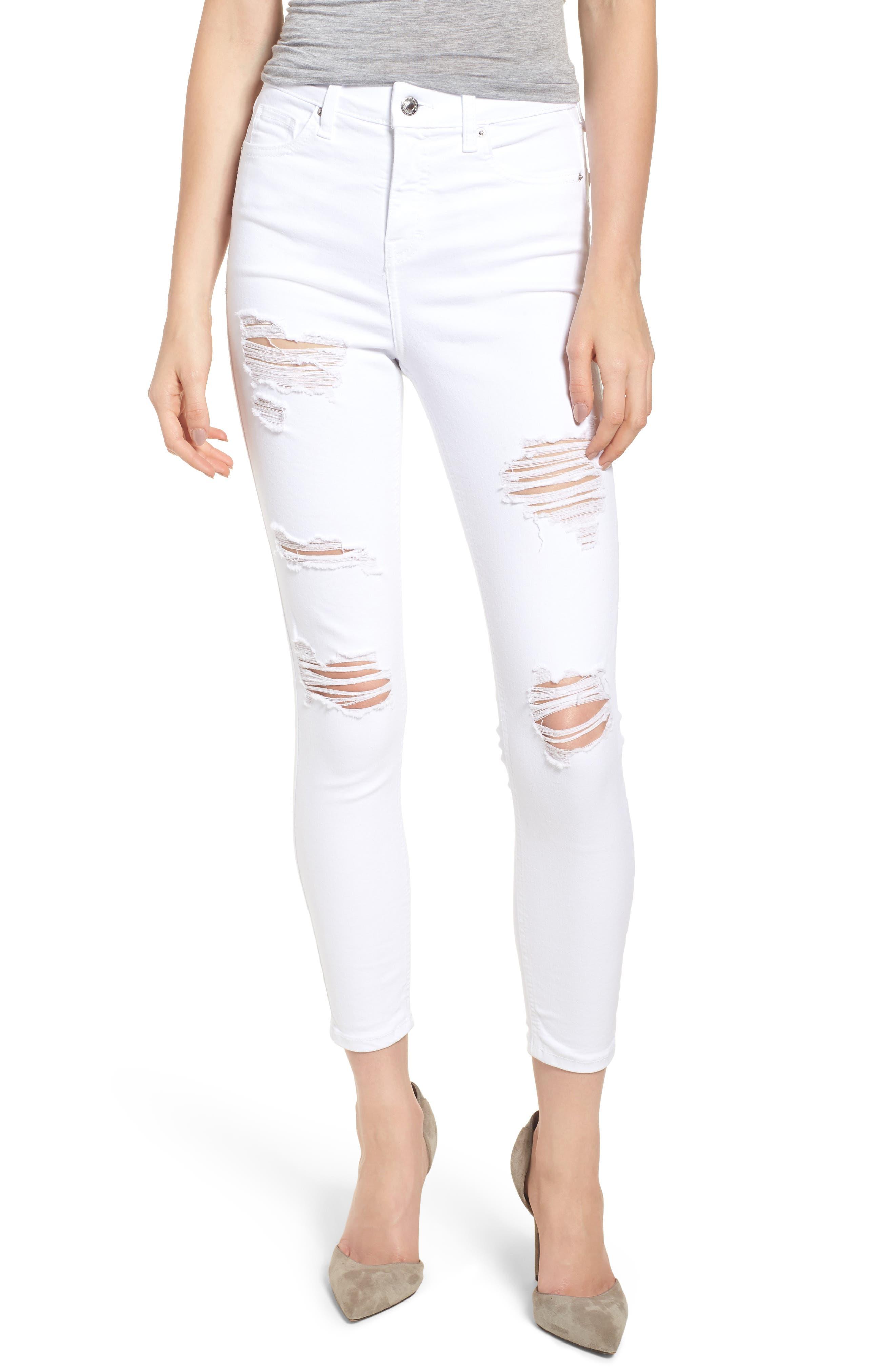 Jamie Super Rip Jeans,                         Main,                         color, White
