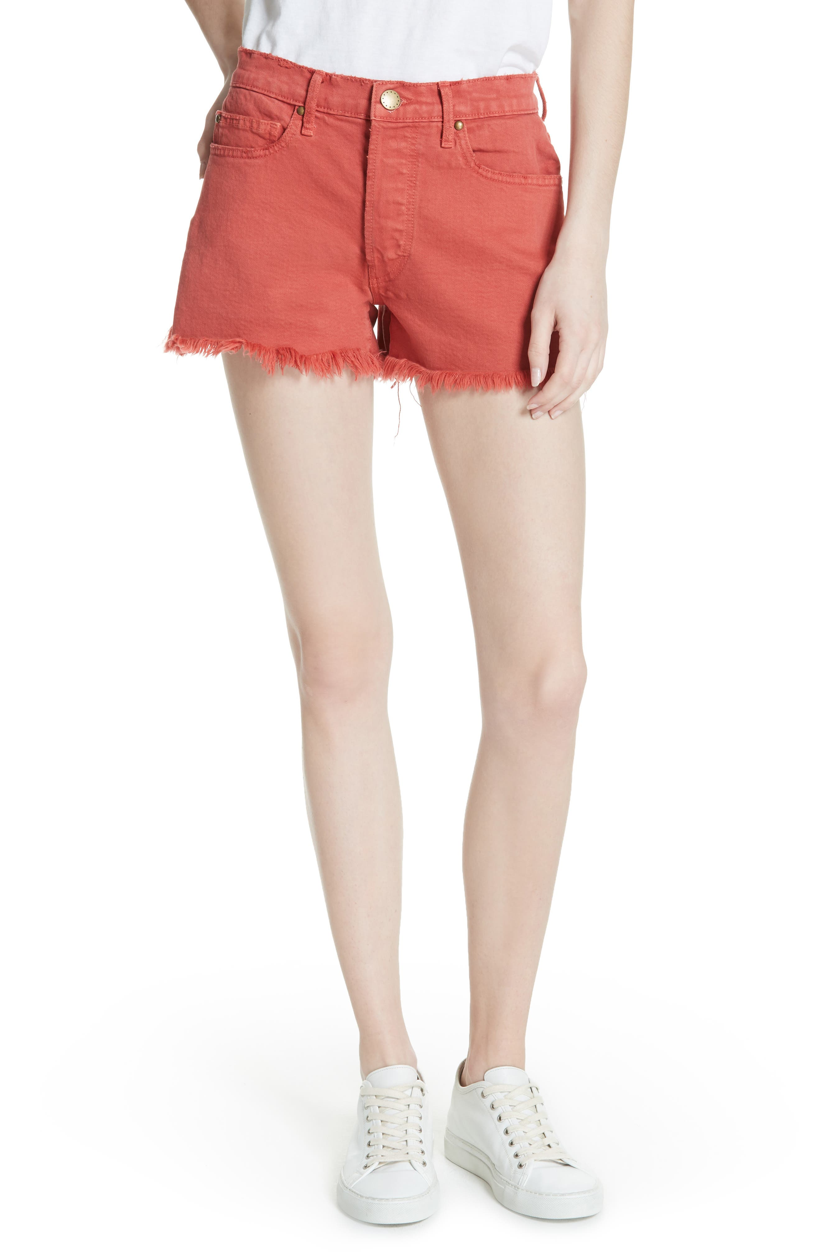 The Cut Off Shorts,                         Main,                         color, Vintage Poppy Wash