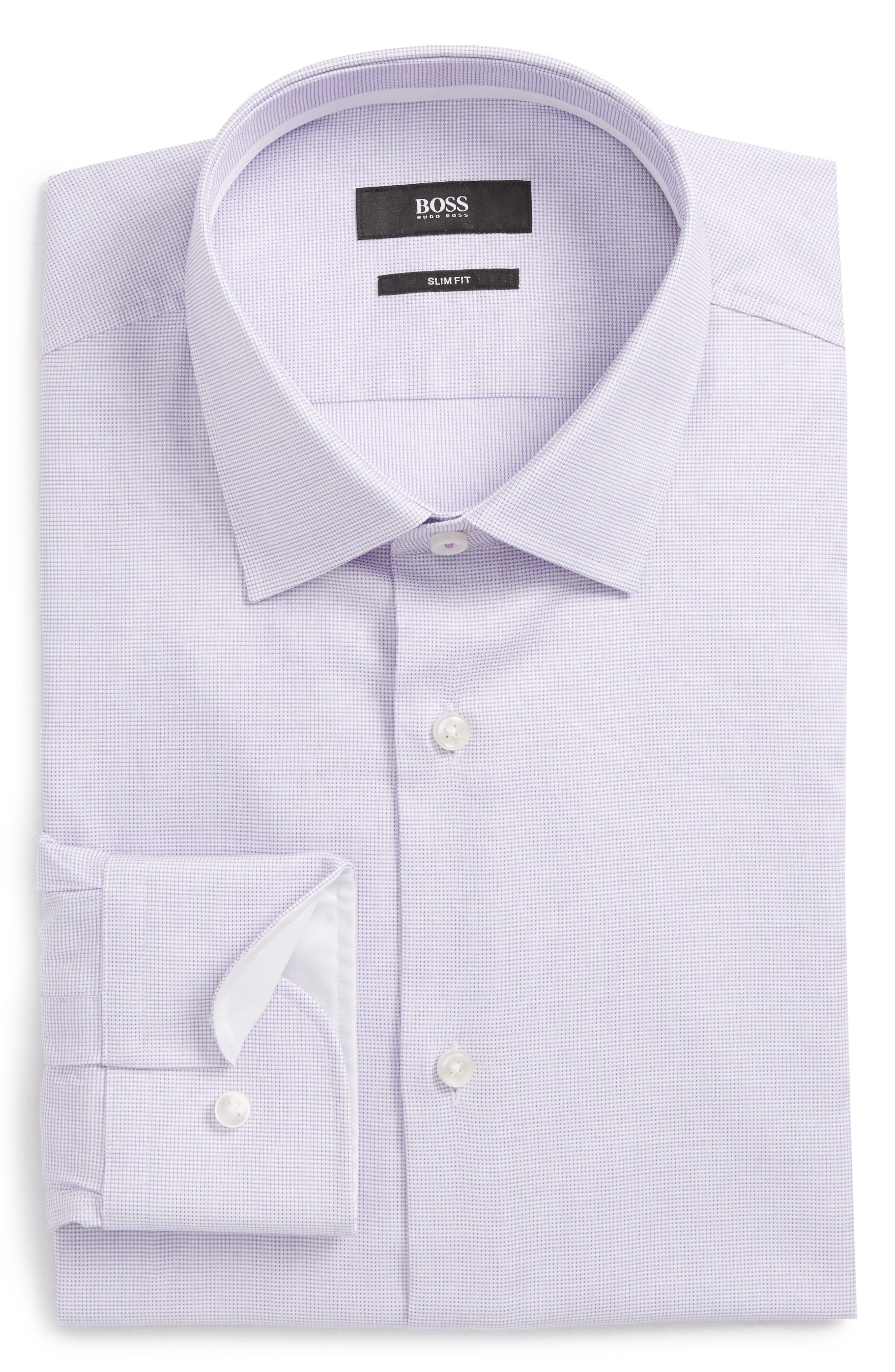 Jesse Slim Fit Dress Shirt,                             Alternate thumbnail 6, color,                             Purple