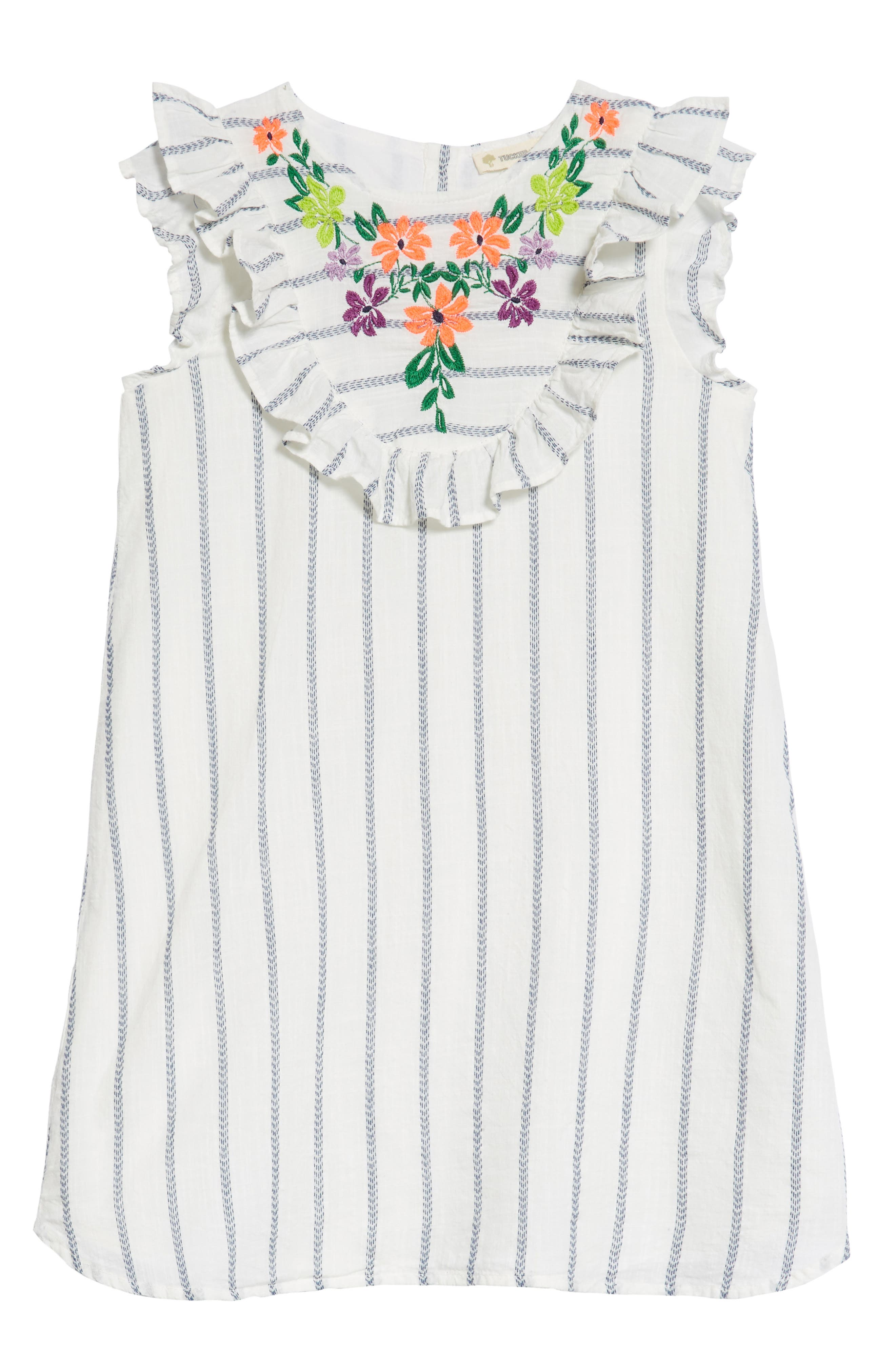 Tucker + Tate Embroidered Ruffle Dress (Toddler Girls, Little Girls and Big Girls)