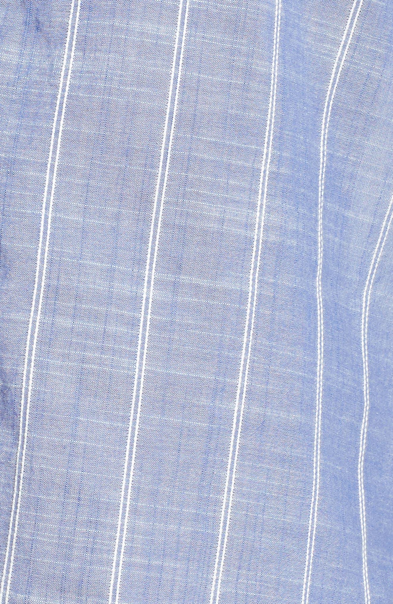 Stripe Short Pajamas,                             Alternate thumbnail 5, color,                             Blue