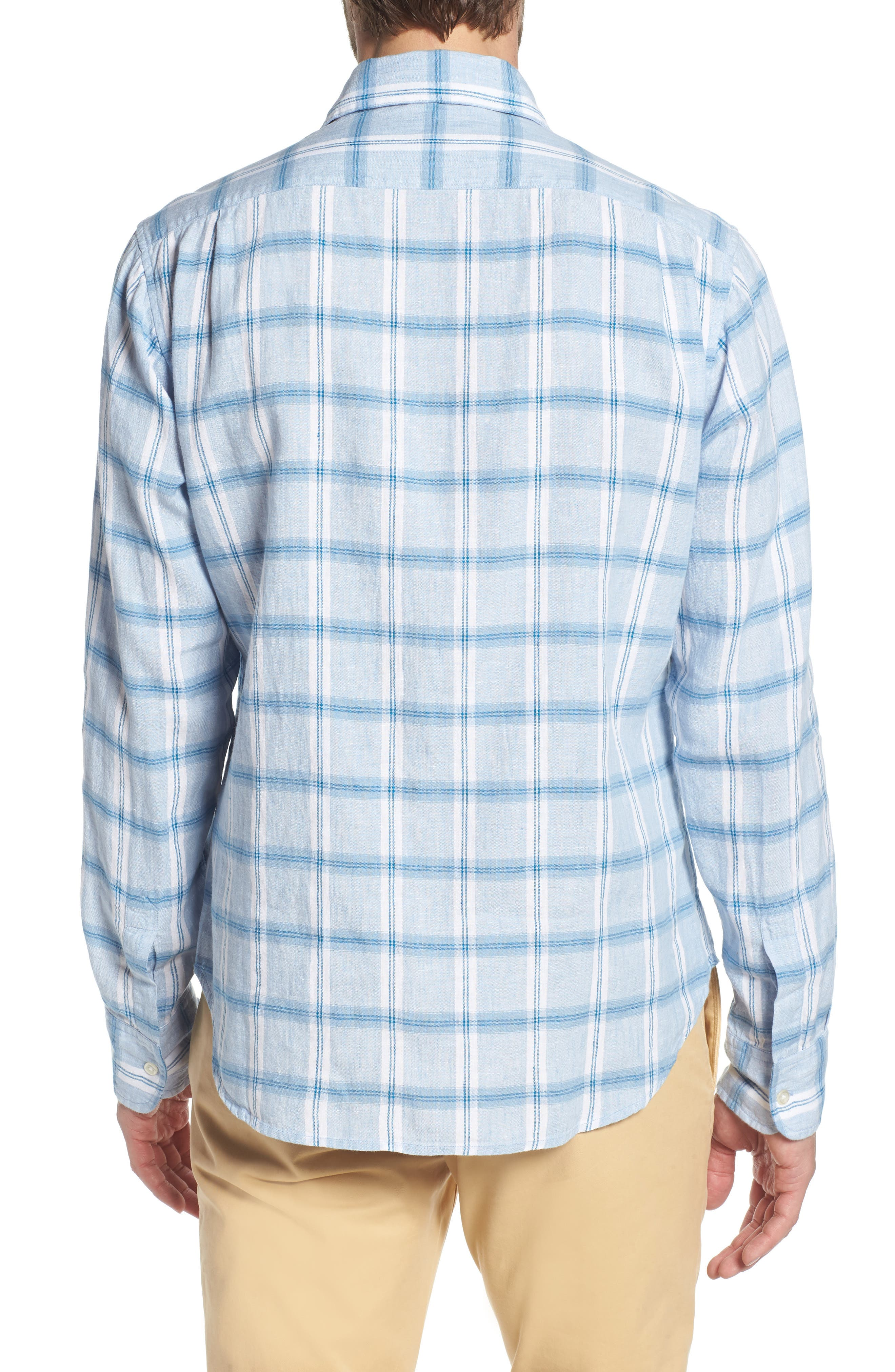 Alternate Image 3  - Bonobos Slim Fit Plaid Linen & Cotton Sport Shirt