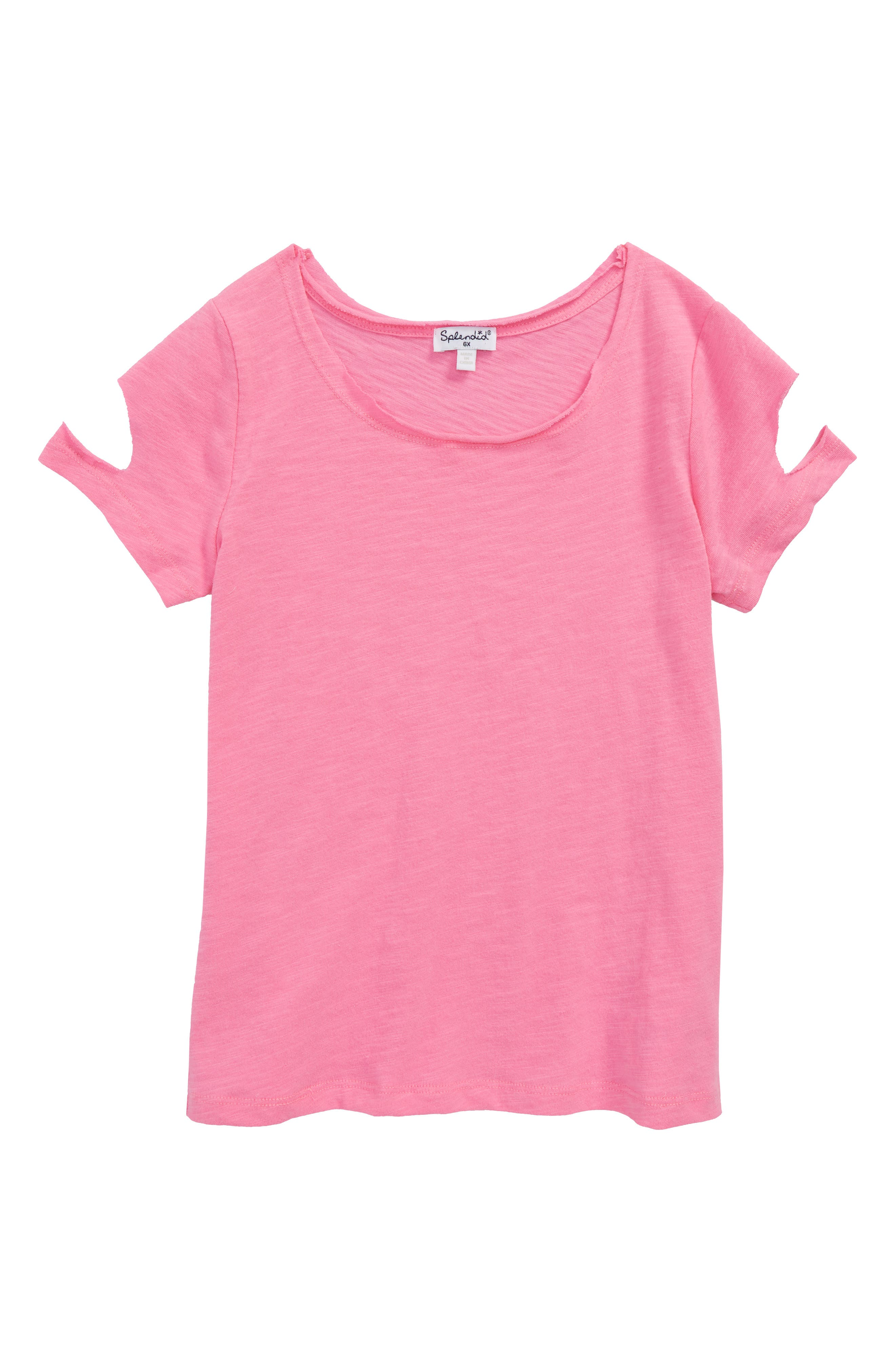 Cutout Tee,                         Main,                         color, Wild Orchid