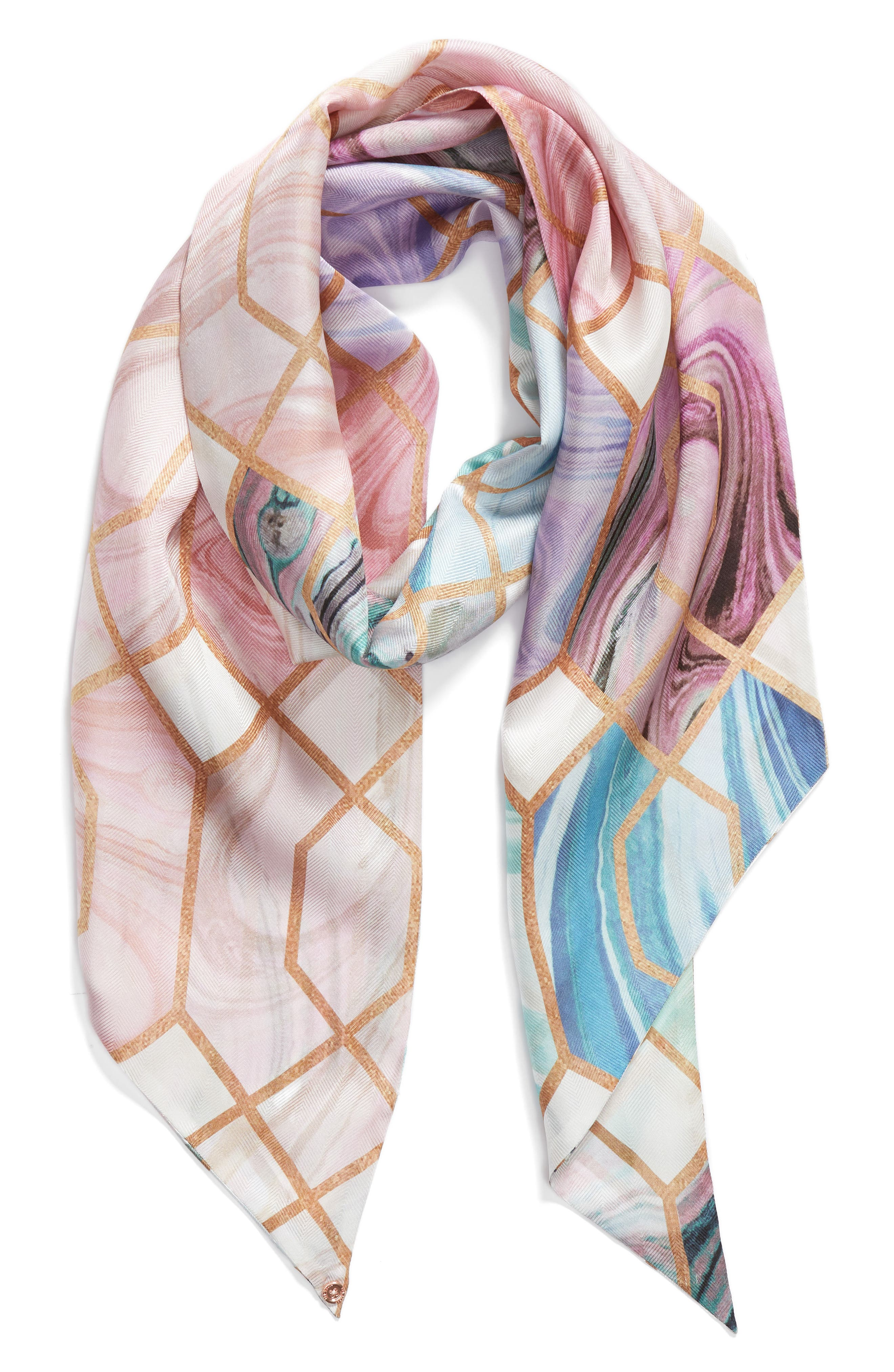 Adeelee - Sea of Clouds Silk Scarf,                             Alternate thumbnail 2, color,                             White