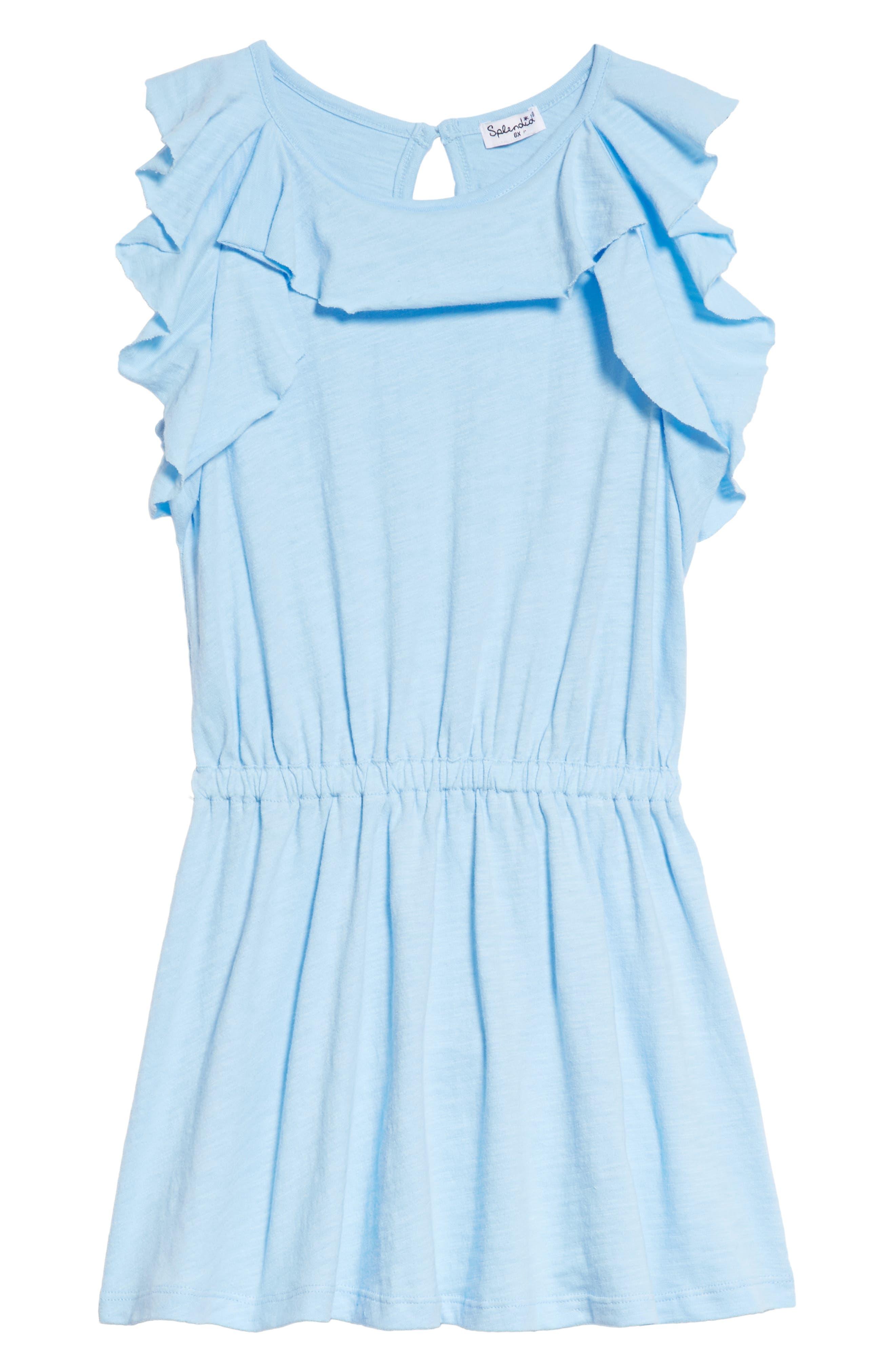 Alternate Image 1 Selected - Splendid Flounce Dress (Toddler Girls & Little Girls)