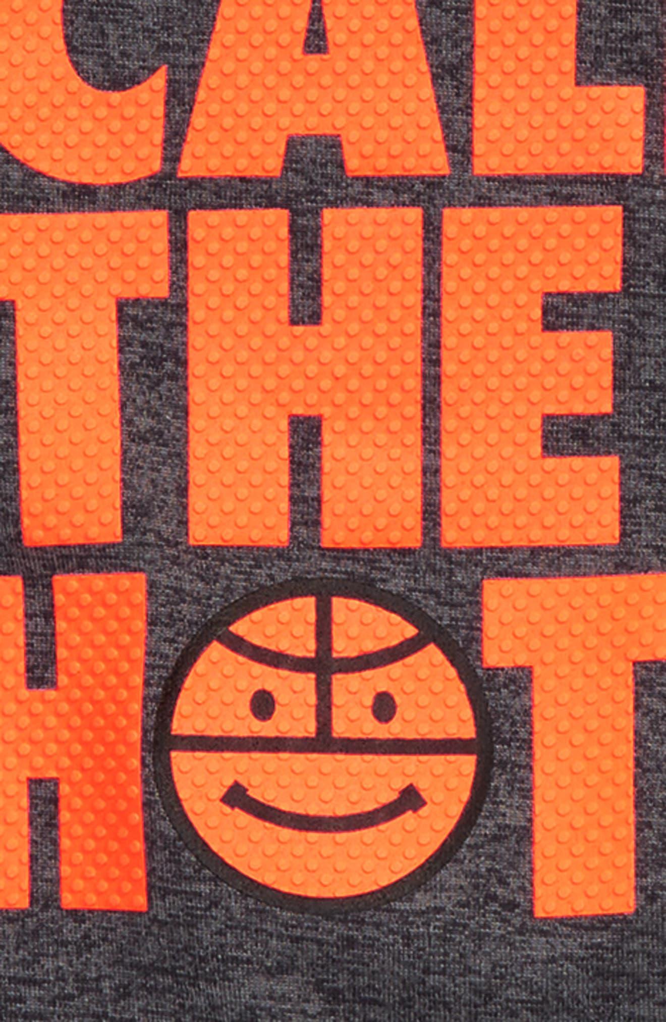 I Call the Shots HeatGear<sup>®</sup> T-Shirt & Mesh Shorts Set,                             Alternate thumbnail 2, color,                             Carbon Heather