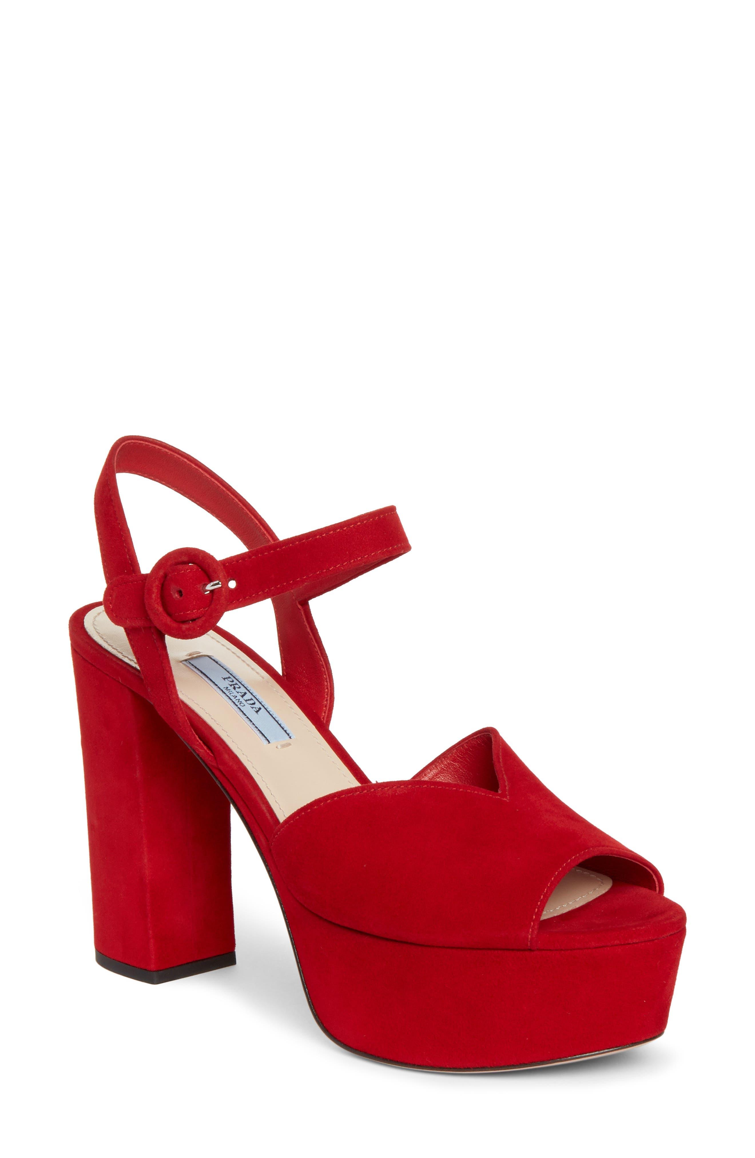 832a2733e07 Prada Block-Heel Sandals for Women