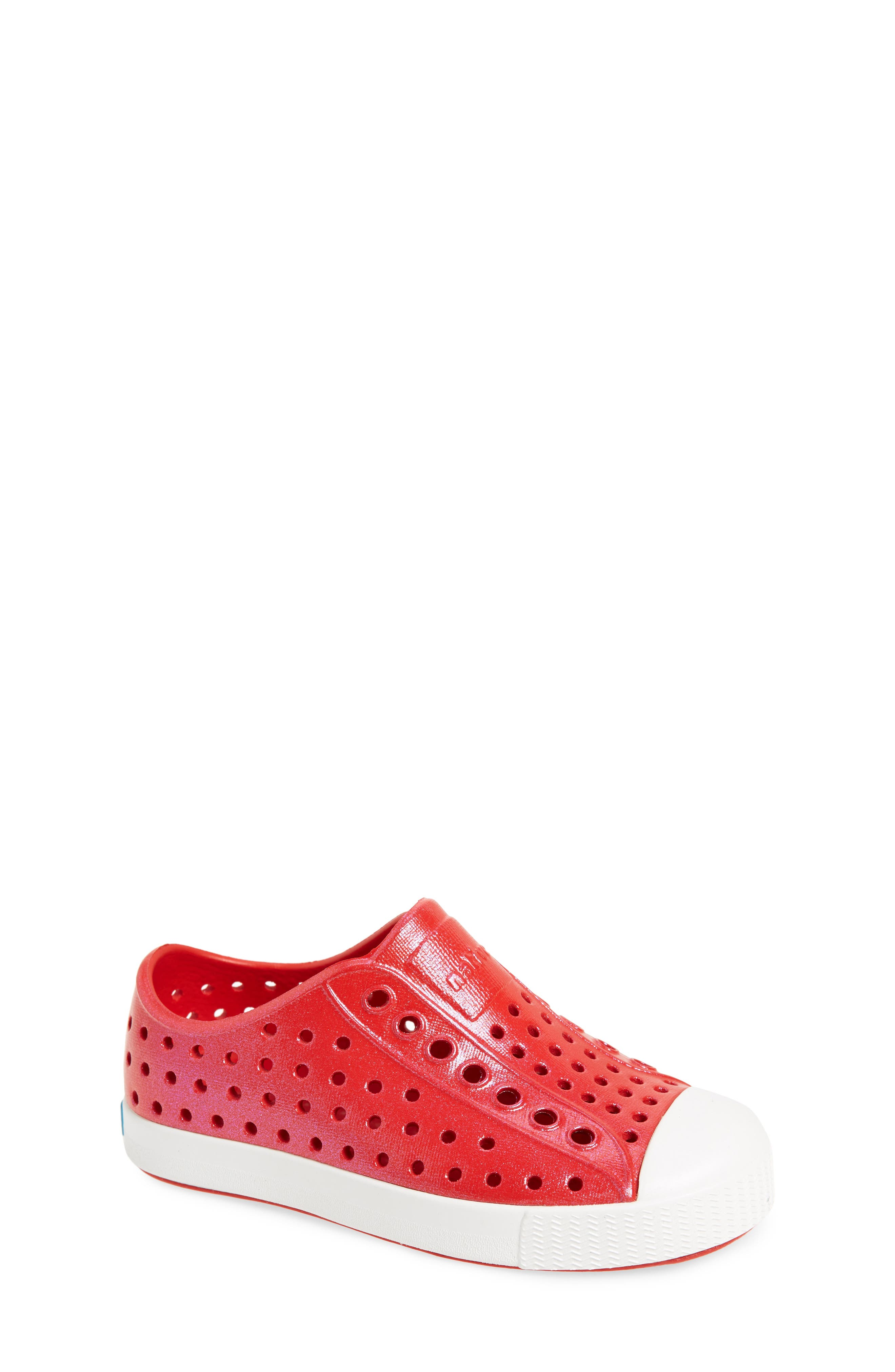 'Jefferson' Iridescent Slip-On Sneaker,                             Main thumbnail 1, color,                             Torch Red/ Shell White/ Galaxy