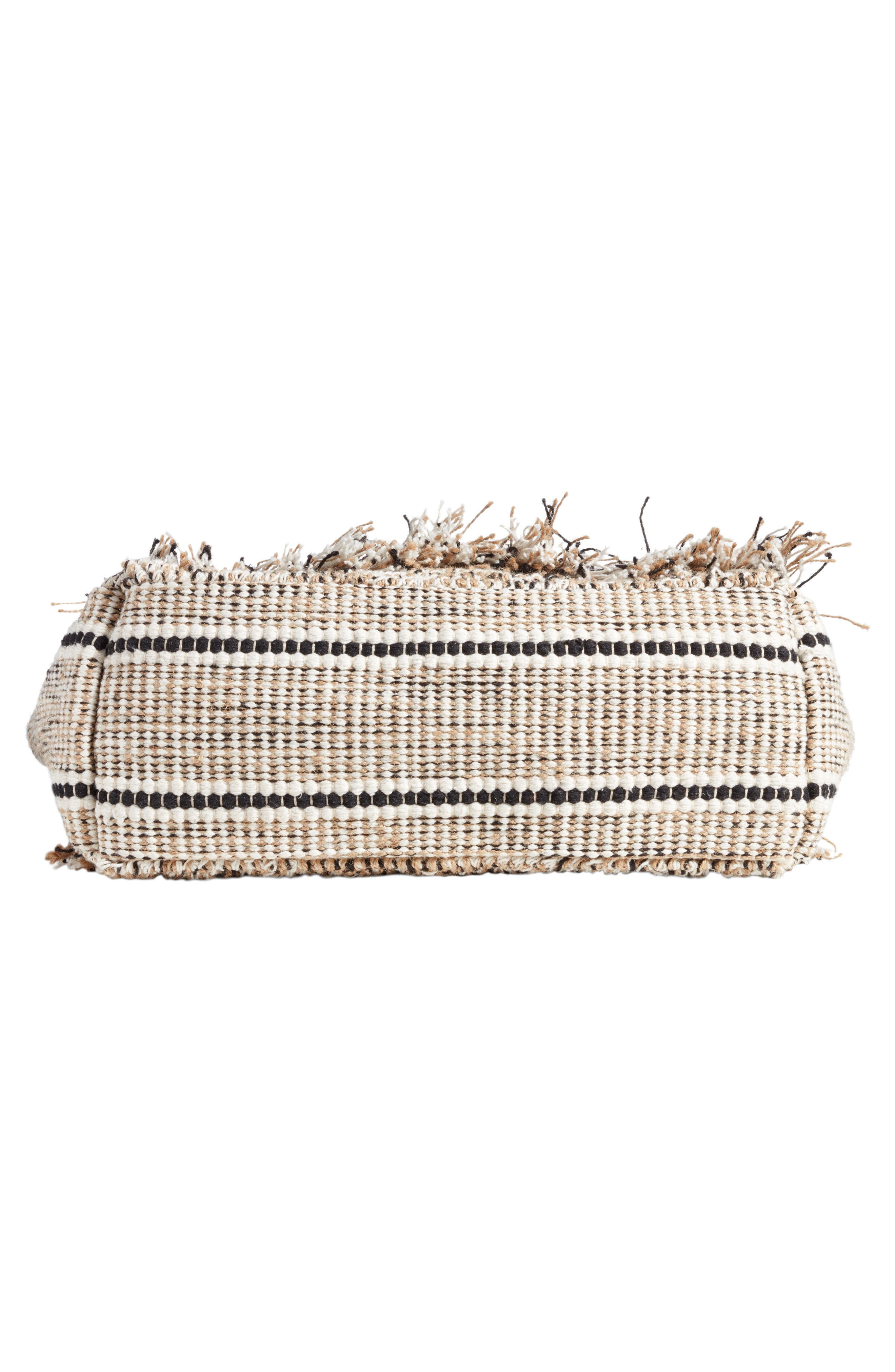 Carried Away Woven Weekend Tote,                             Alternate thumbnail 6, color,                             Black Sands