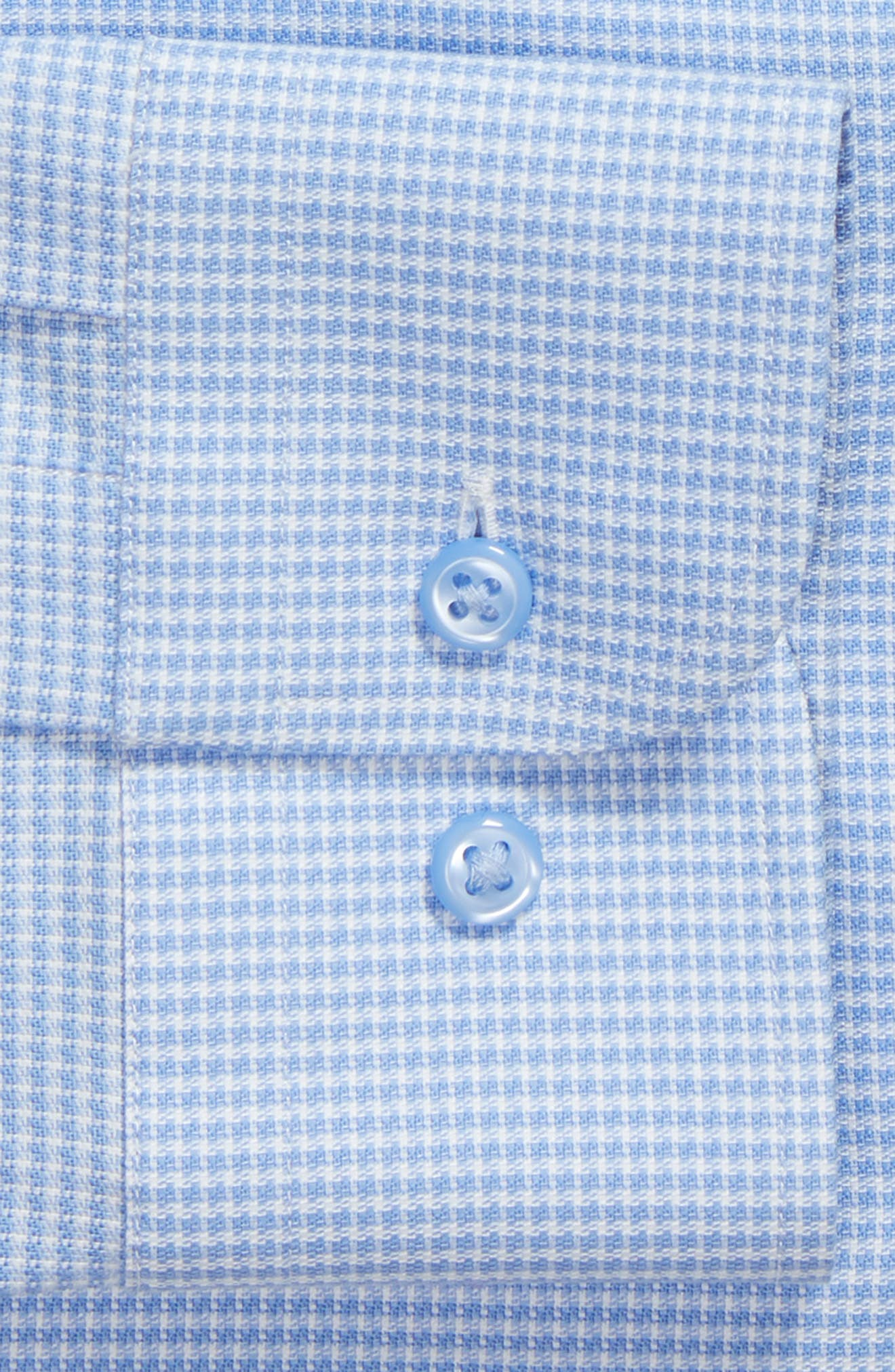 Tech-Smart Trim Fit Stretch Texture Dress Shirt,                             Alternate thumbnail 5, color,                             Blue Hydrangea