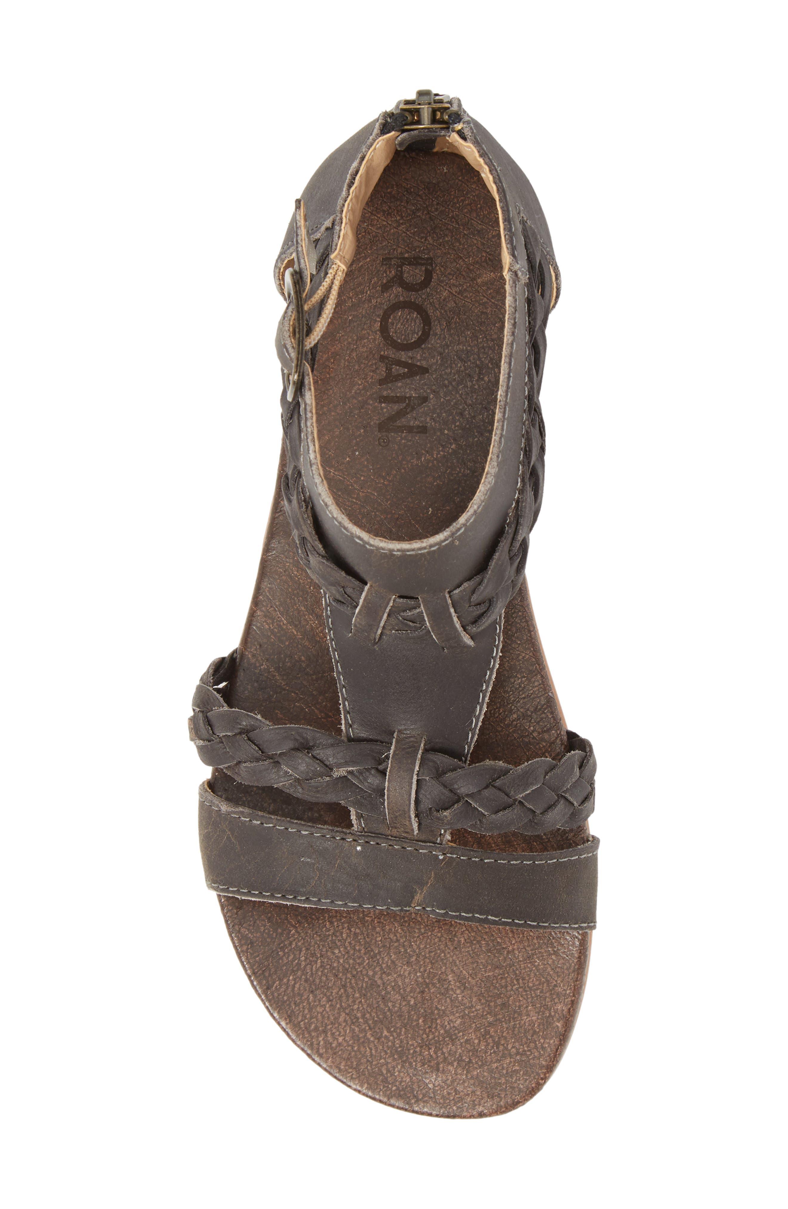 Posey Braided V-Strap Sandal,                             Alternate thumbnail 5, color,                             Sydney Black